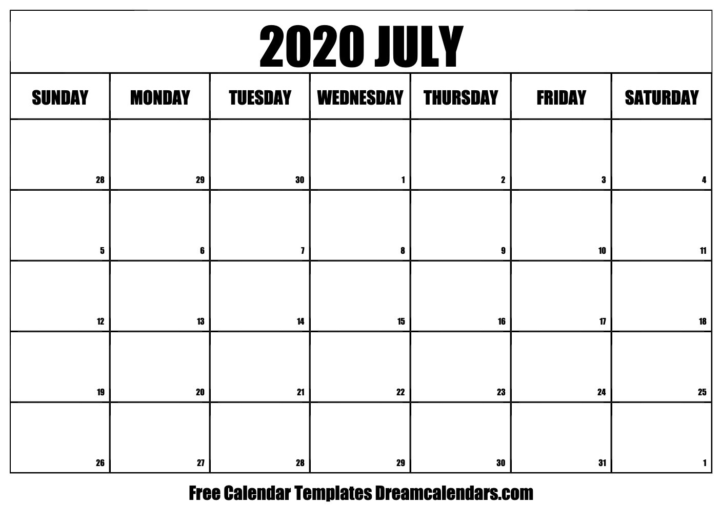 30 Day Calendar 2020  Yatay.horizonconsulting.co pertaining to Free Printable 30 Day Calendar