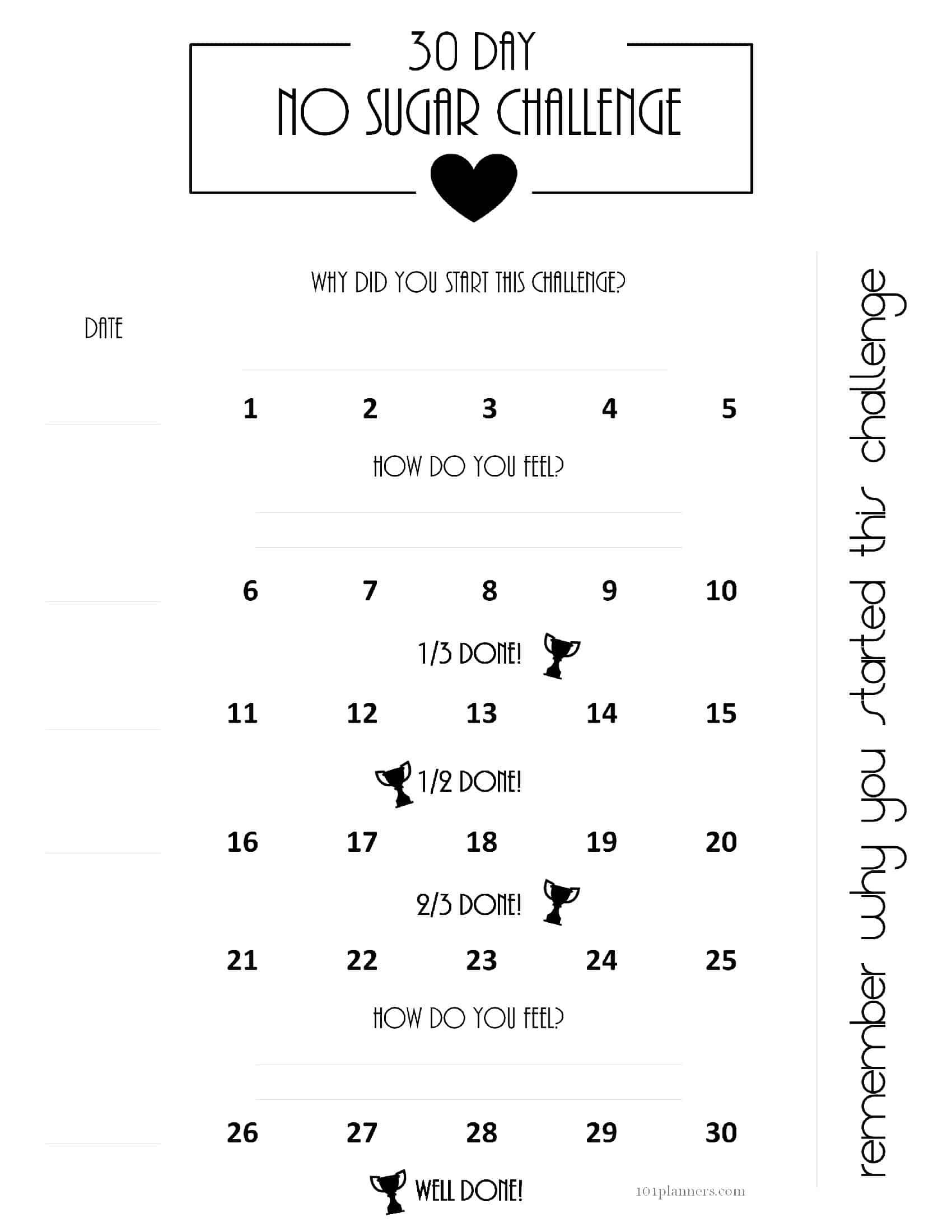 30 Day Challenges regarding 30 Day Calendar