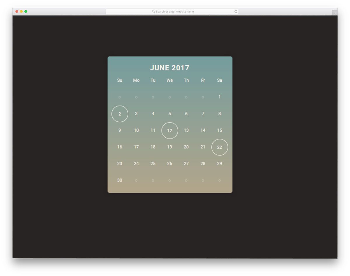30 Html Calendar Designs To Easily Organize Goals And Events in Calendar Template Html Css