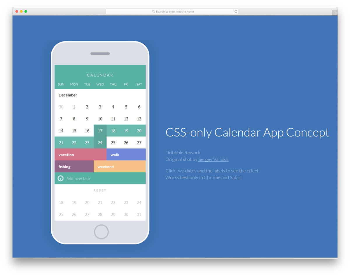 30 Html Calendar Designs To Easily Organize Goals And Events pertaining to Calendar Template Html Css