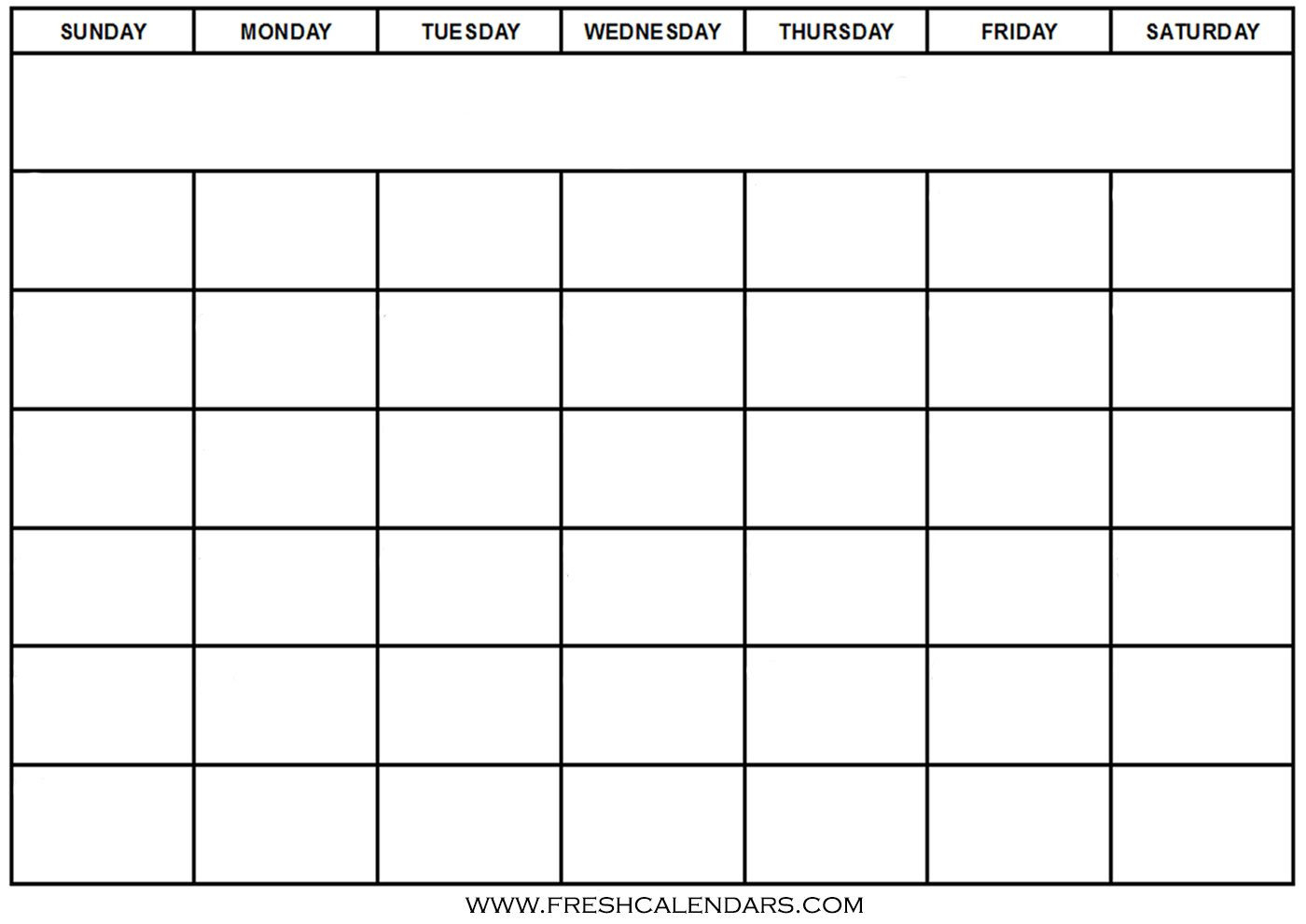 30 Print Free Calendar Template | Andaluzseattle Template with Blank Sunday Through Saturday Calendar