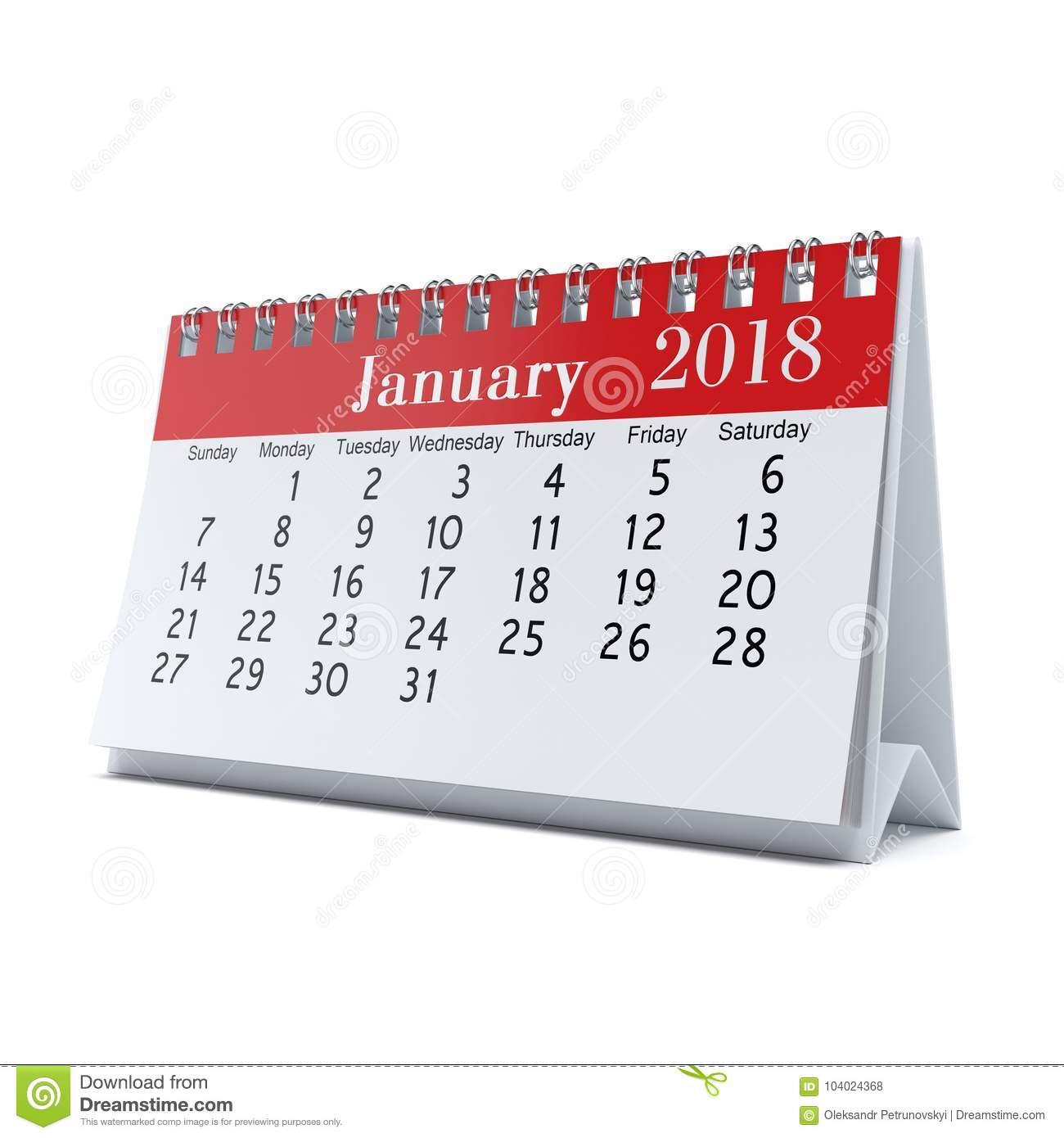 3D Rendering Calendar Stock Illustration. Illustration Of within 3 Month Calendar Holder