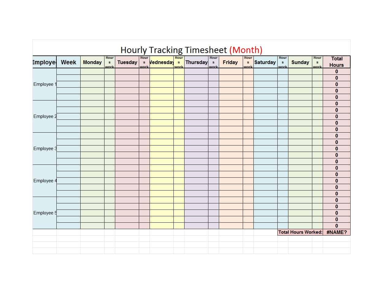 43 Effective Hourly Schedule Templates (Excel & Ms Word) ᐅ throughout Weekly Hourly Calendar