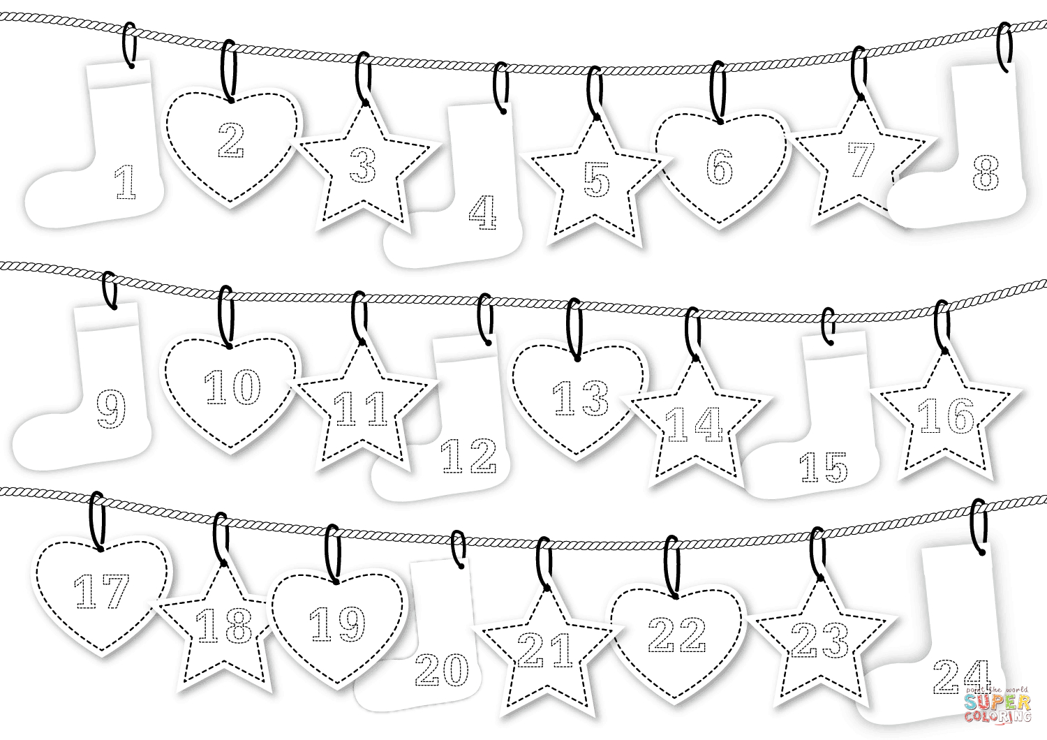 44 Most Firstrate Advent Calendar Coloring Page Pages For pertaining to Catholic Advent Calendar Printable