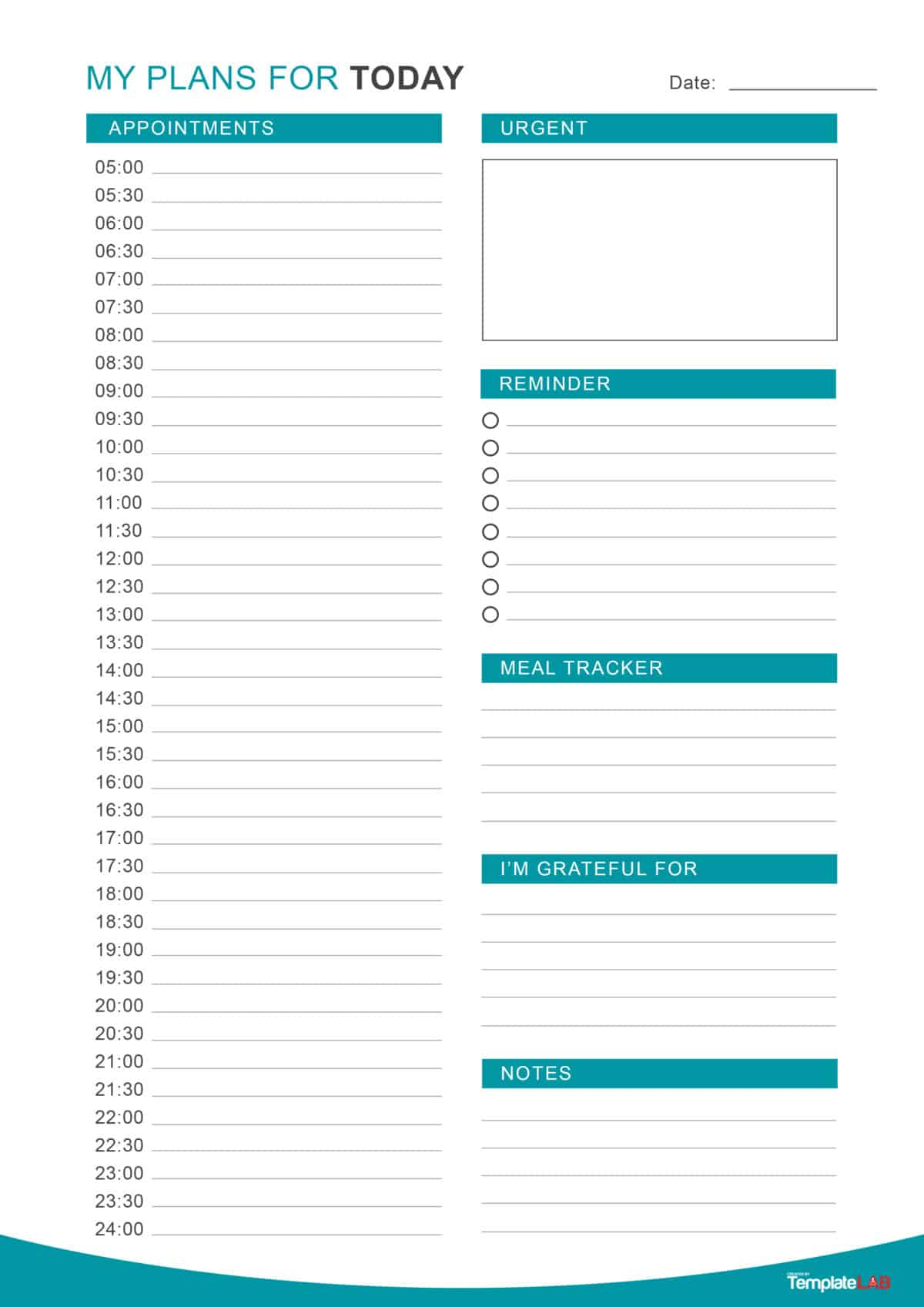 47 Printable Daily Planner Templates (Free In Wordexcelpdf) intended for Free Printable Daily Planner Template