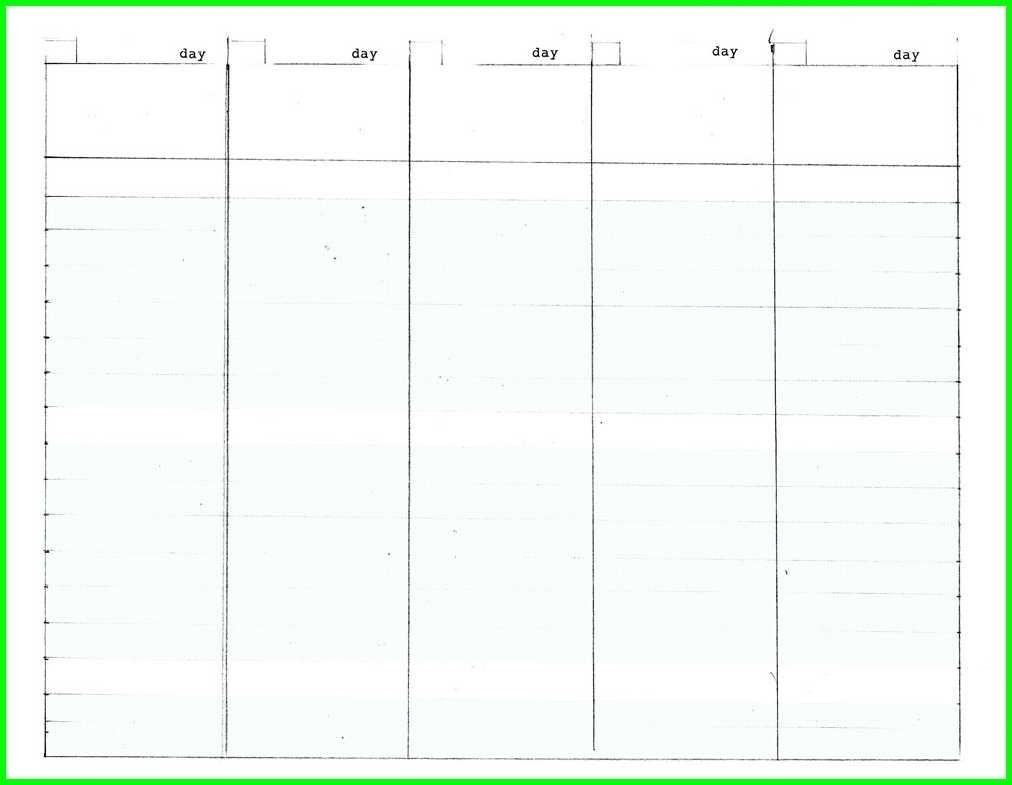 5 Day Week Calendar Printable  Calendar Inspiration Design with Printable 5 Day Calendar