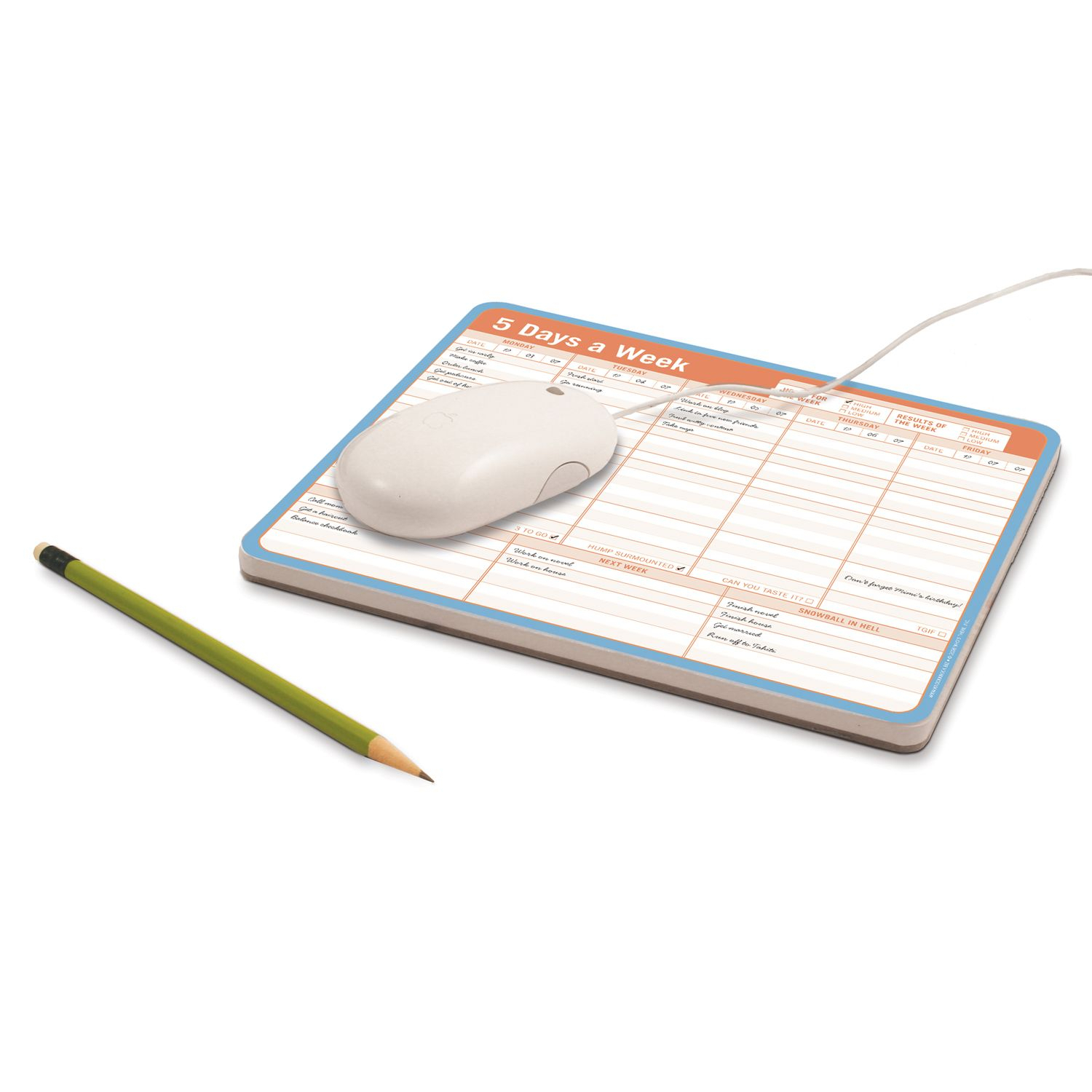 5 Days A Week Paper Mousepad | Cool Desk Accessories, Paper with regard to 5 Days A Week Planner