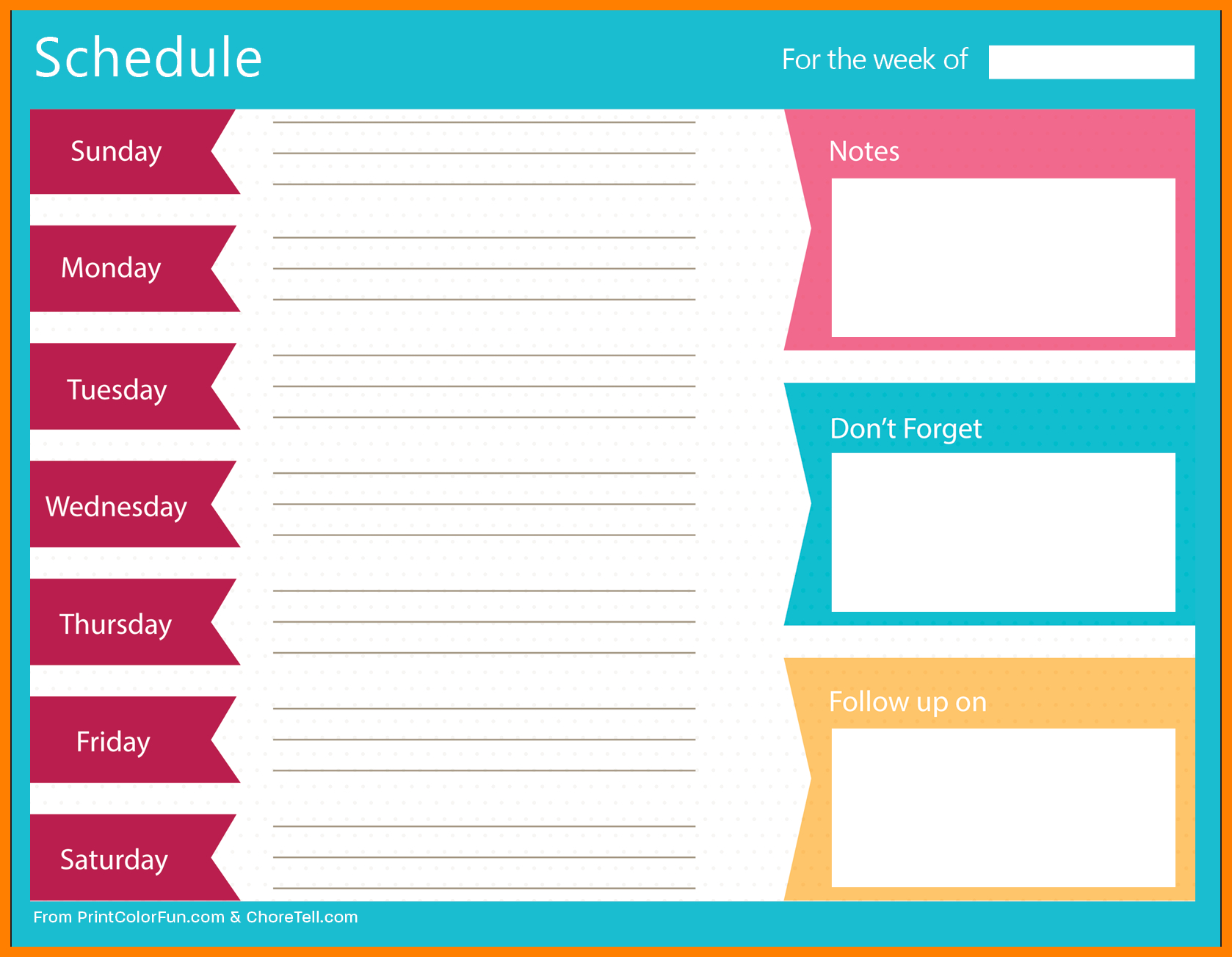 5+ Free Weekly Schedule Printable | Marlows Jewellers with regard to Free Weekly Schedule