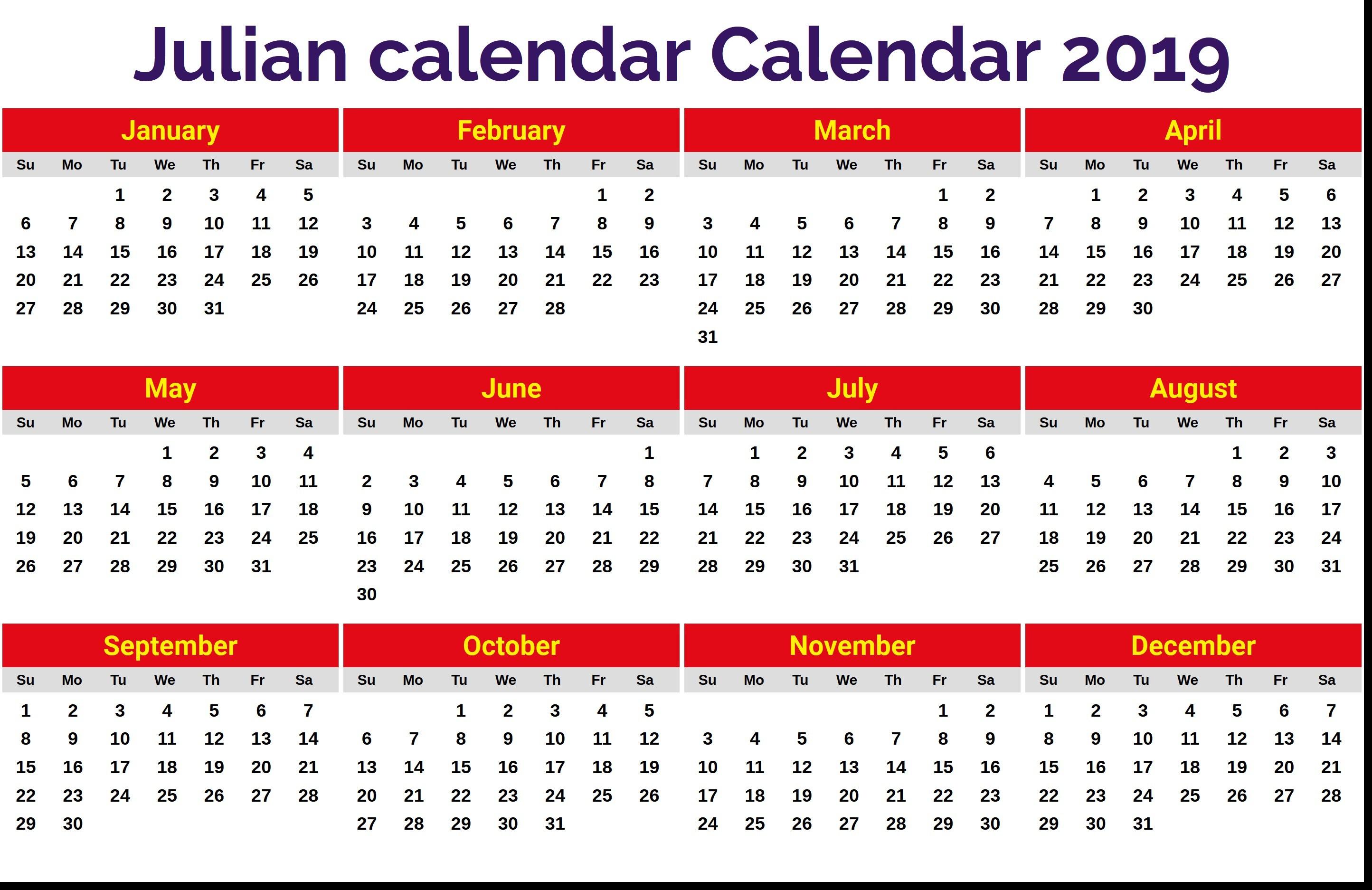 50+ Great Julian Date Calendar 2019 Pdf  Happy Lilac with Calendario Juliano 2020 Quadax
