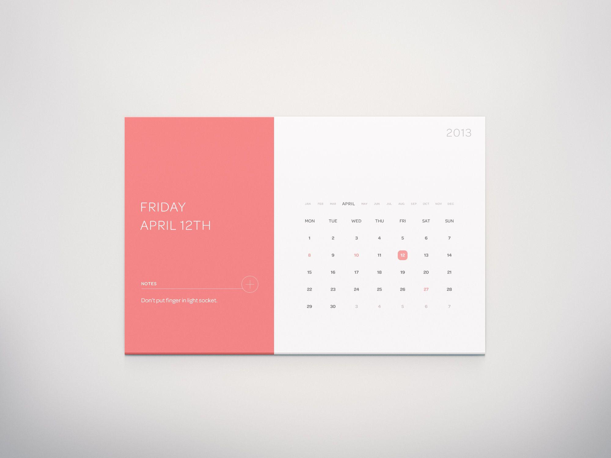 50 Inspiring Examples Of Flat User Interfaces | Calendar in Calendar Flat Design