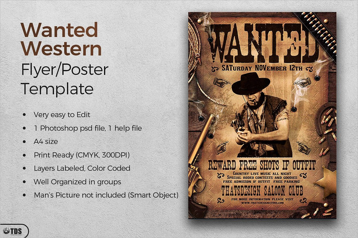 50+ Printable Wanted Poster Templates Free Pdf, Psd Designs throughout Wanted Poster Template Free Printable