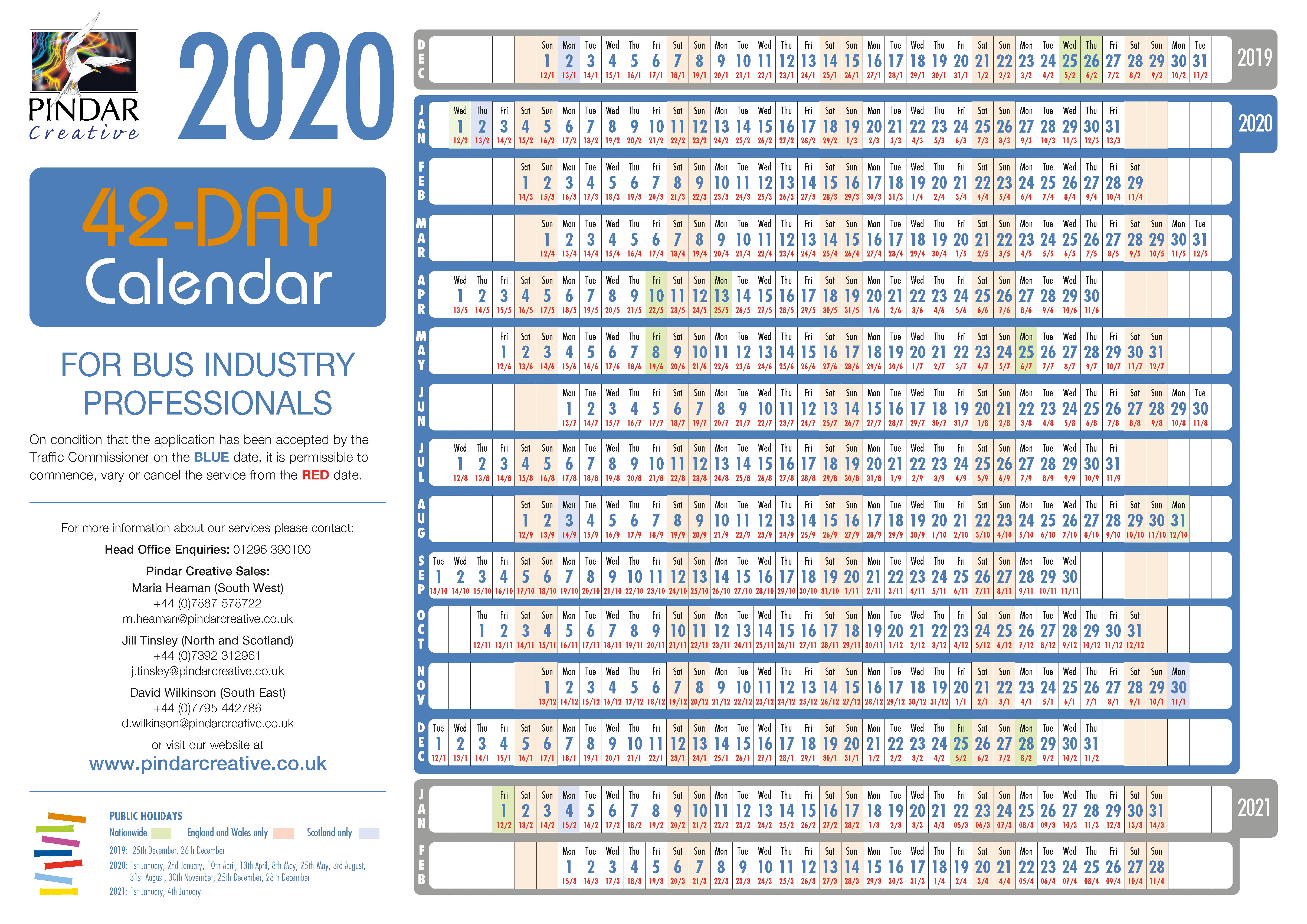 56Day Calendar By Pindar Creative (Catalogues, Ecommerce for Barr Beacon Calendar