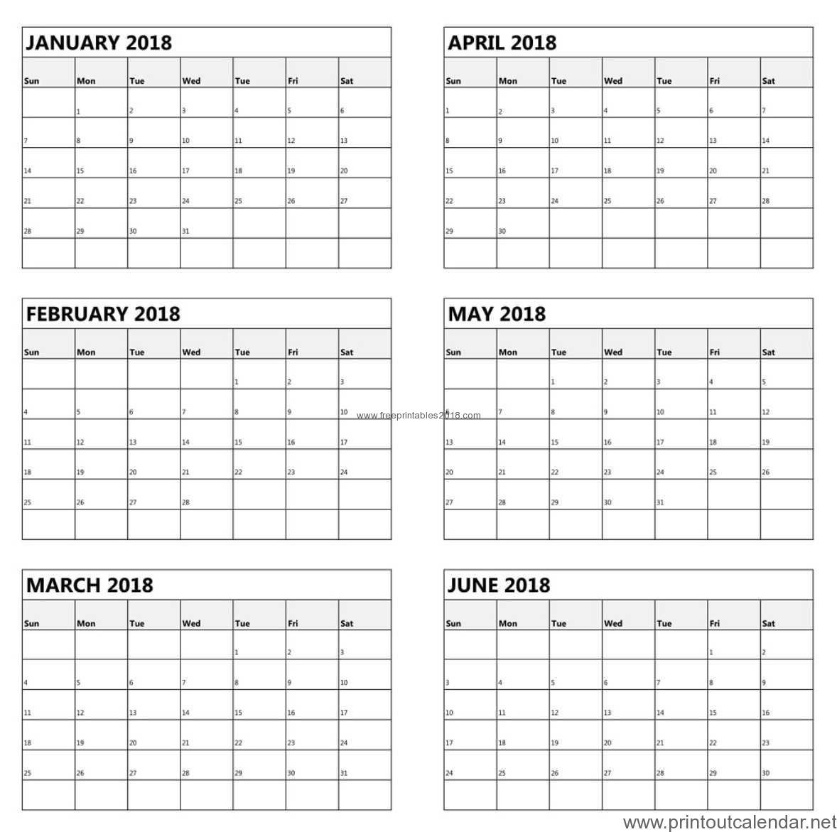6 Months Calendar Printable  Yatay.horizonconsulting.co for Free Printable 6 Month Calendar