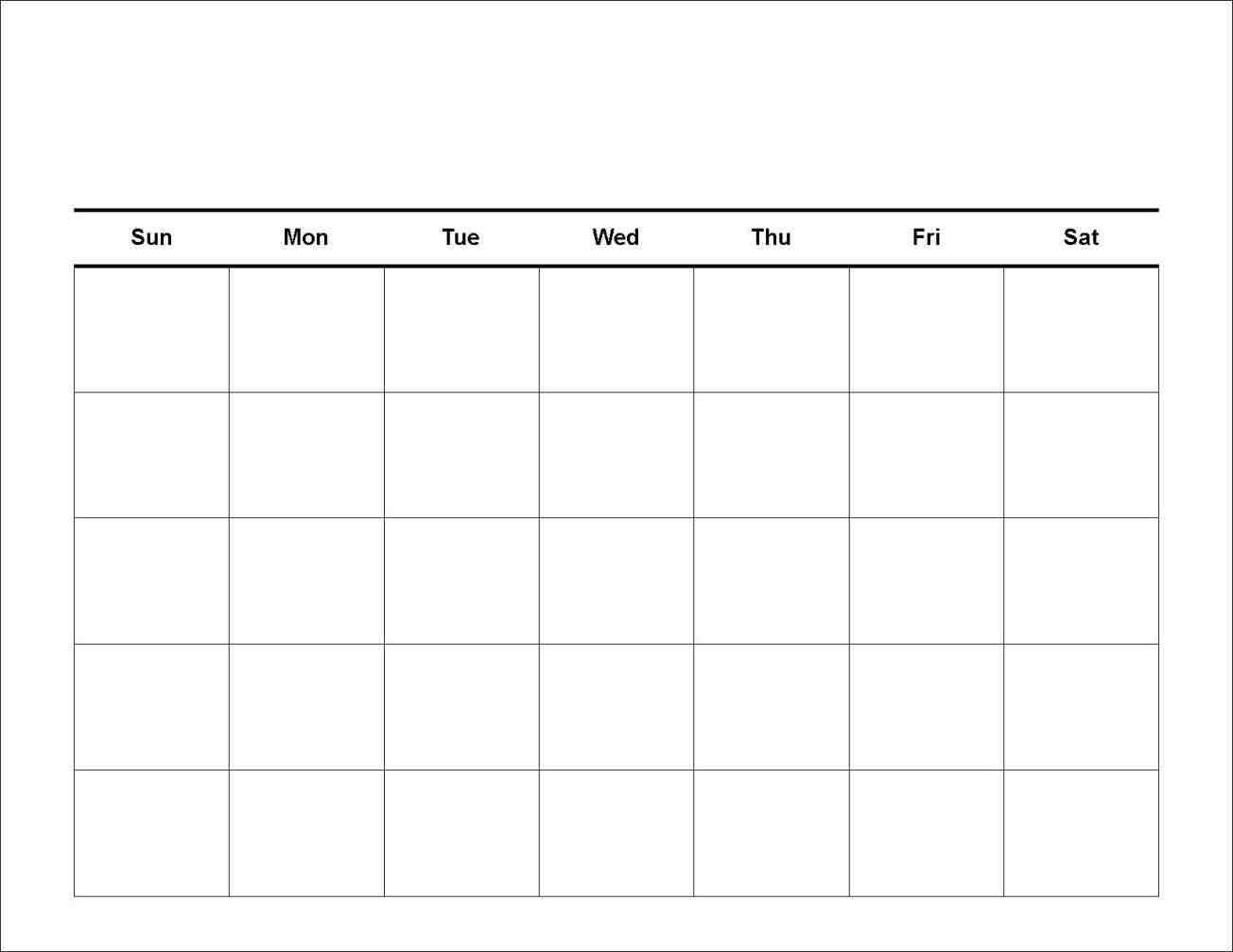 7 Day Calendar Template | Monthly Calendar Printable with regard to 7 Day Blank Calendar