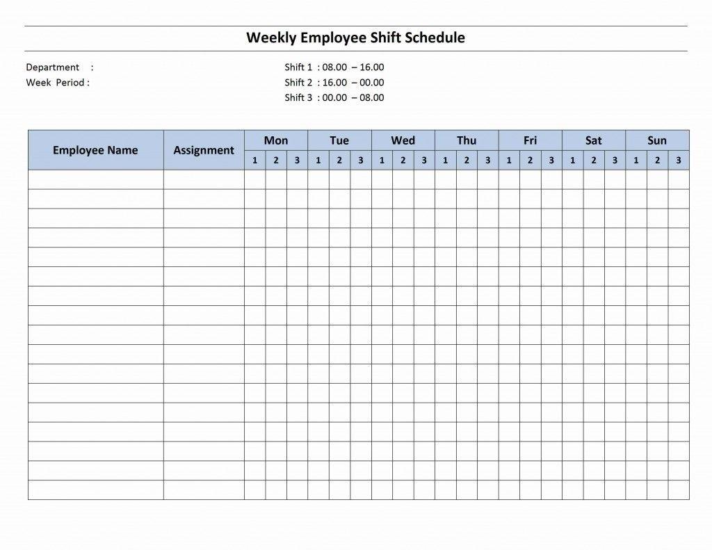 7 Day Employee Schedule Template | Blank Calendar Template 7 intended for 7 Day Blank Calendar