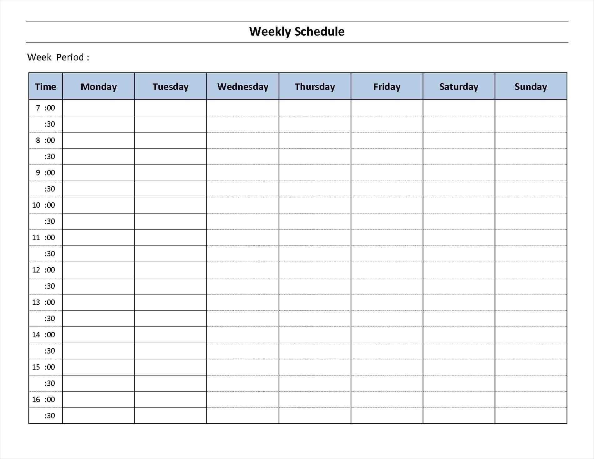 7 Day Week Calendar Printable | Template Calendar Printable pertaining to Printable Blank Weekly Calendar