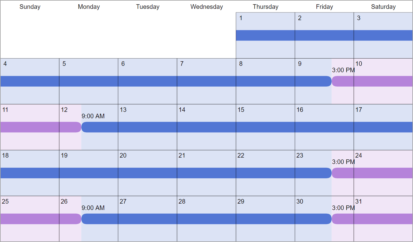 8020 Custody & Visitation Schedules: 4 Most Common Examples in 1St 3Rd And 5Th Weekend Calendar 2020