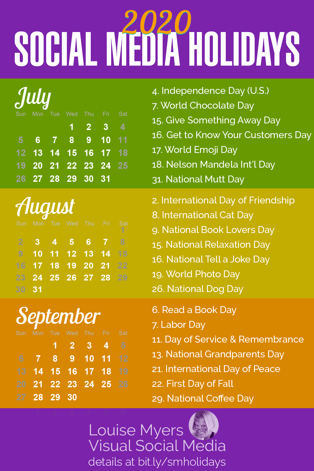 84 Social Media Holidays You Need In 2020: Indispensable! for International Days In June