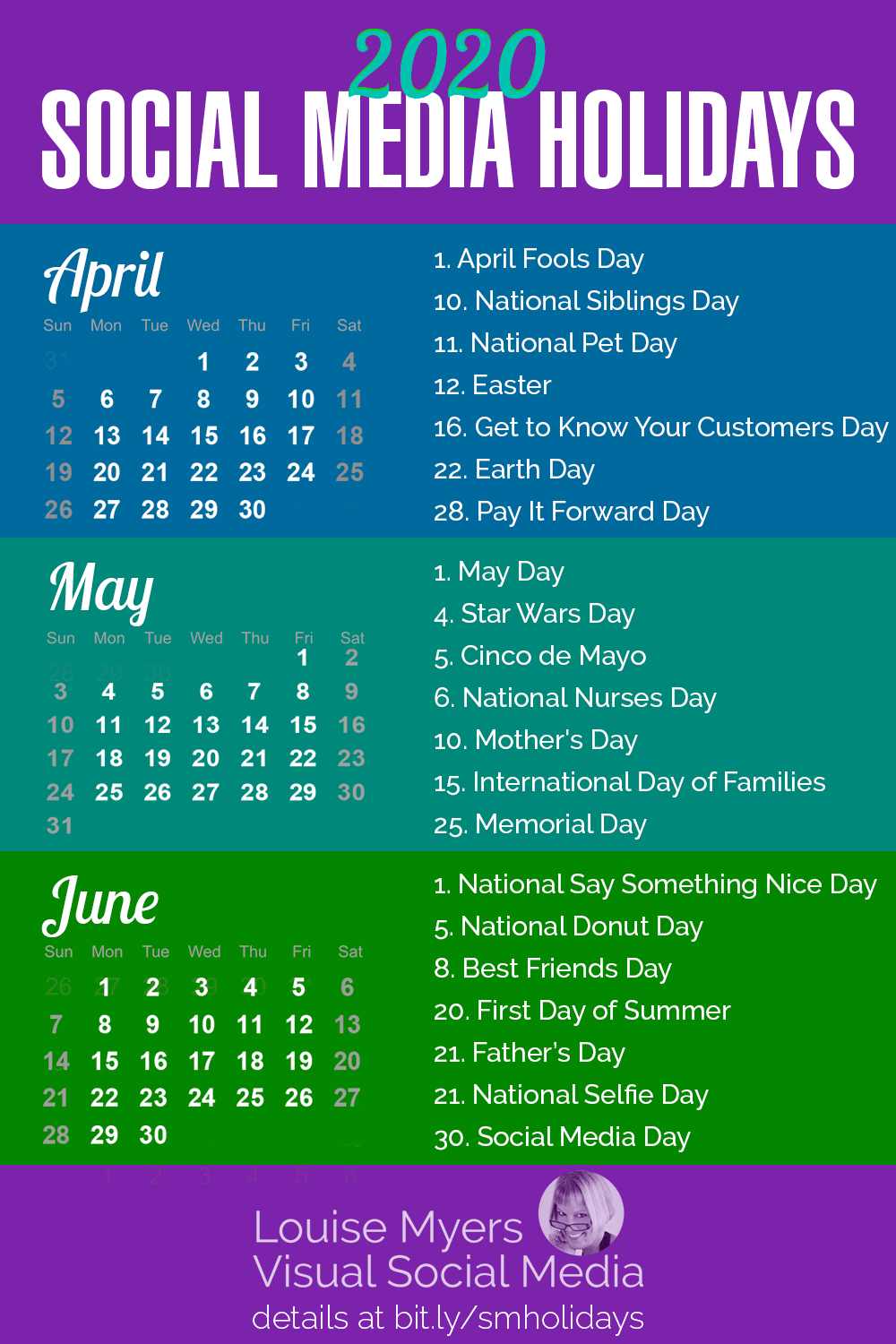 84 Social Media Holidays You Need In 2020: Indispensable! in National Day Calendar June 2020