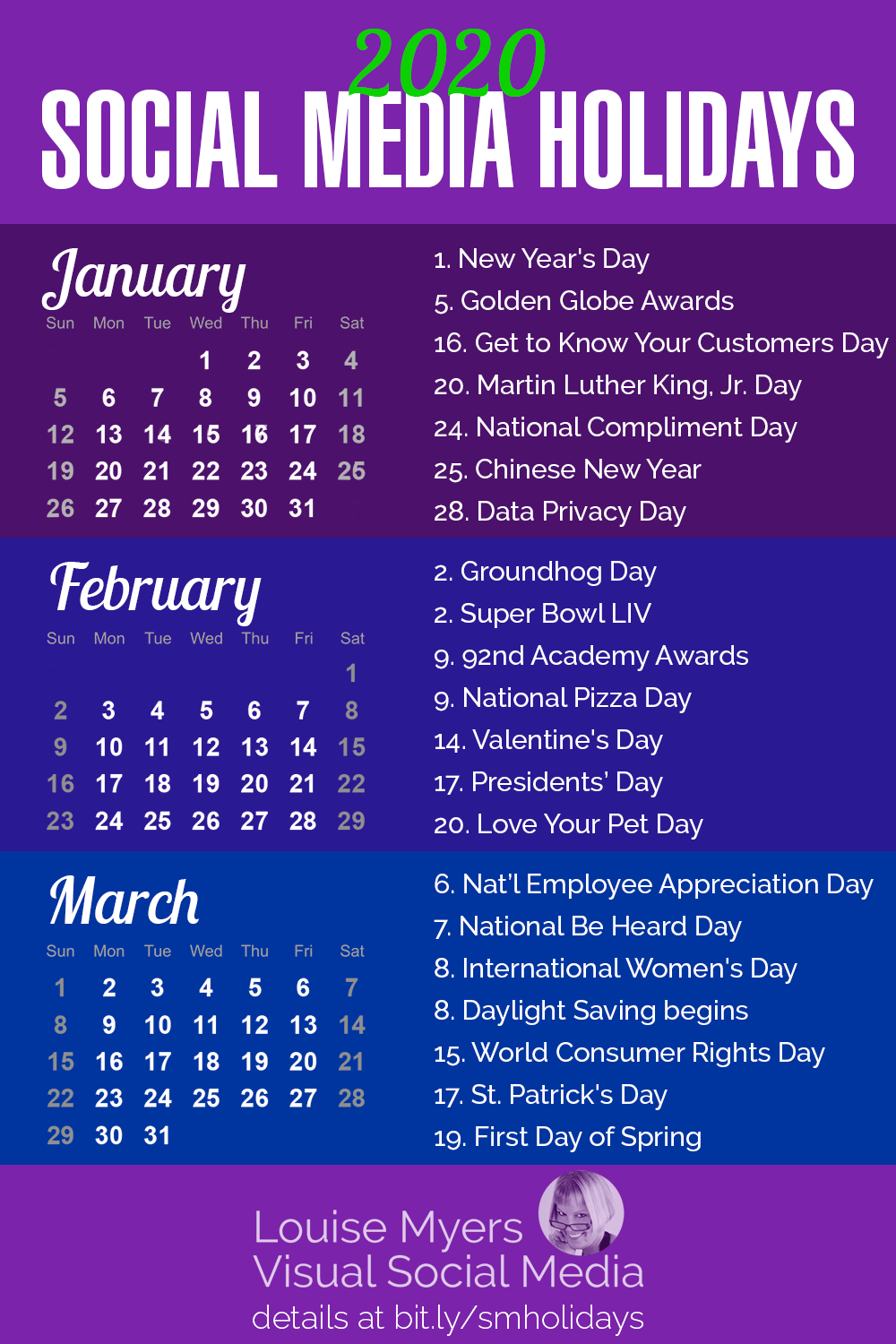 84 Social Media Holidays You Need In 2020: Indispensable! pertaining to The Ultimate Social Media Holiday Calendar For 2020