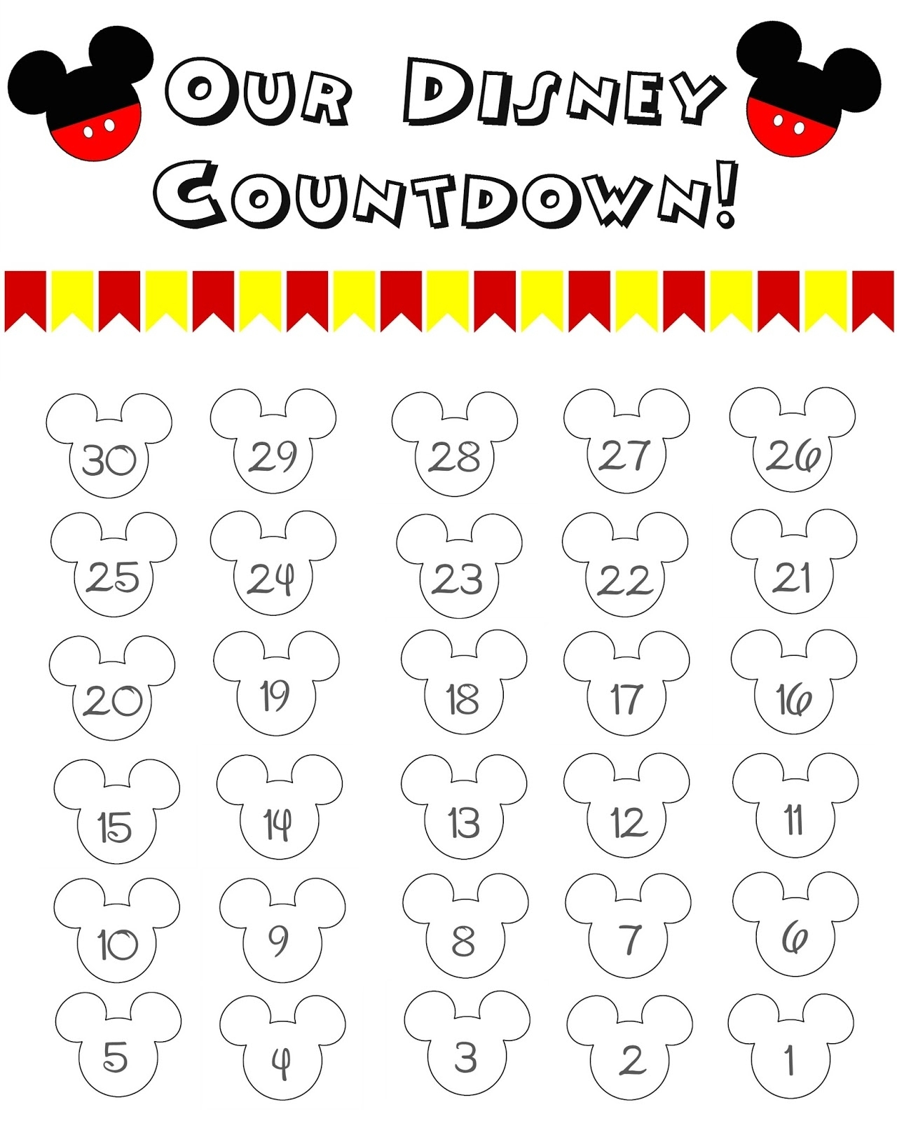 99 Days To Disney Printable Calendar  Calendar Inspiration for Disney Printable Calendar