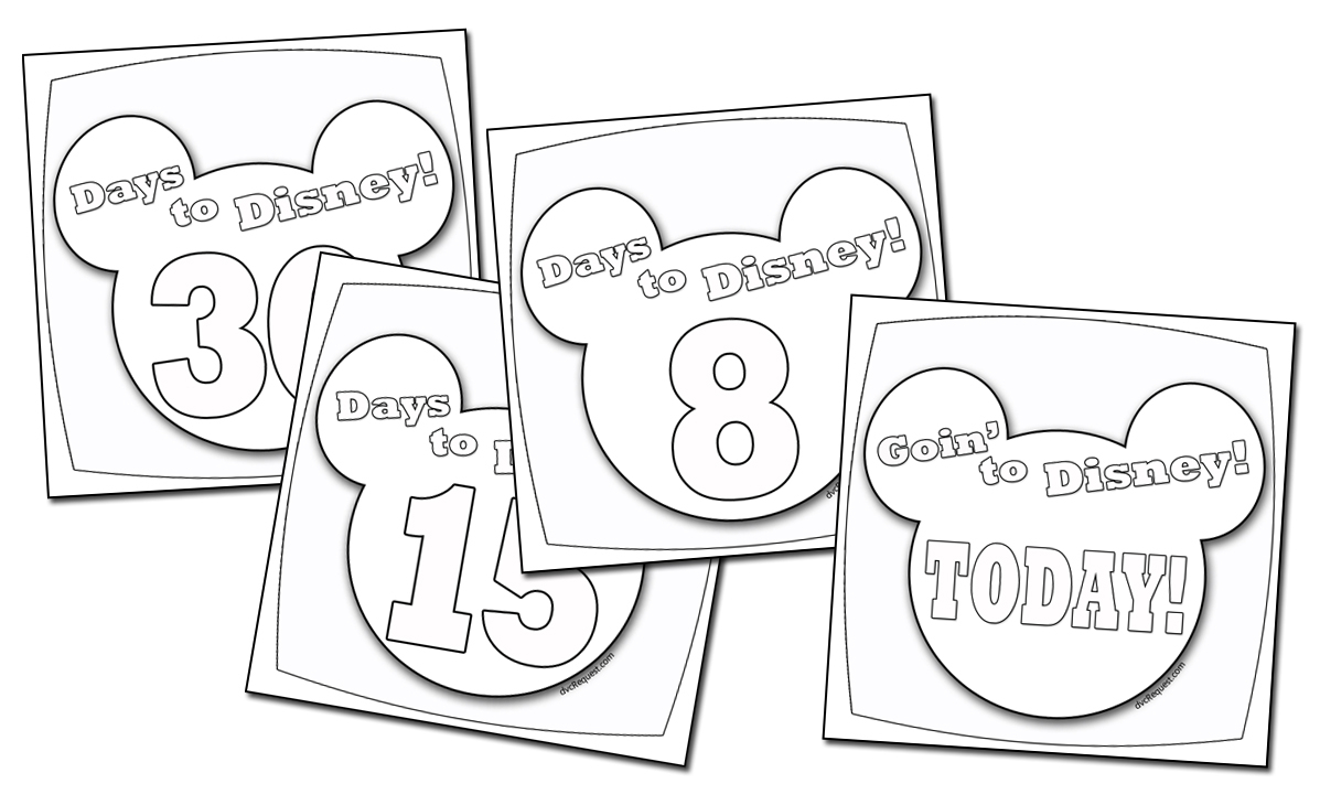 A Disney Countdown Calendar You Can Color regarding Disney Countdown Calendar Printable