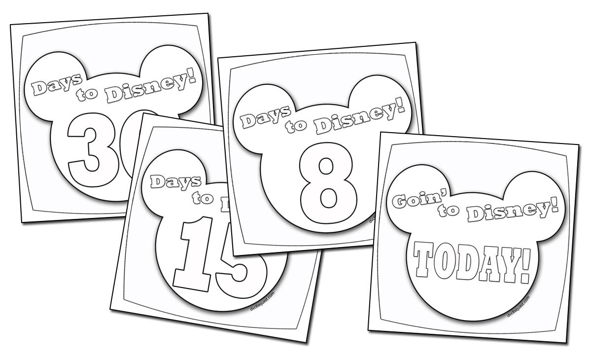 A Disney Countdown Calendar You Can Color throughout Disney World Countdown Calendar Printable
