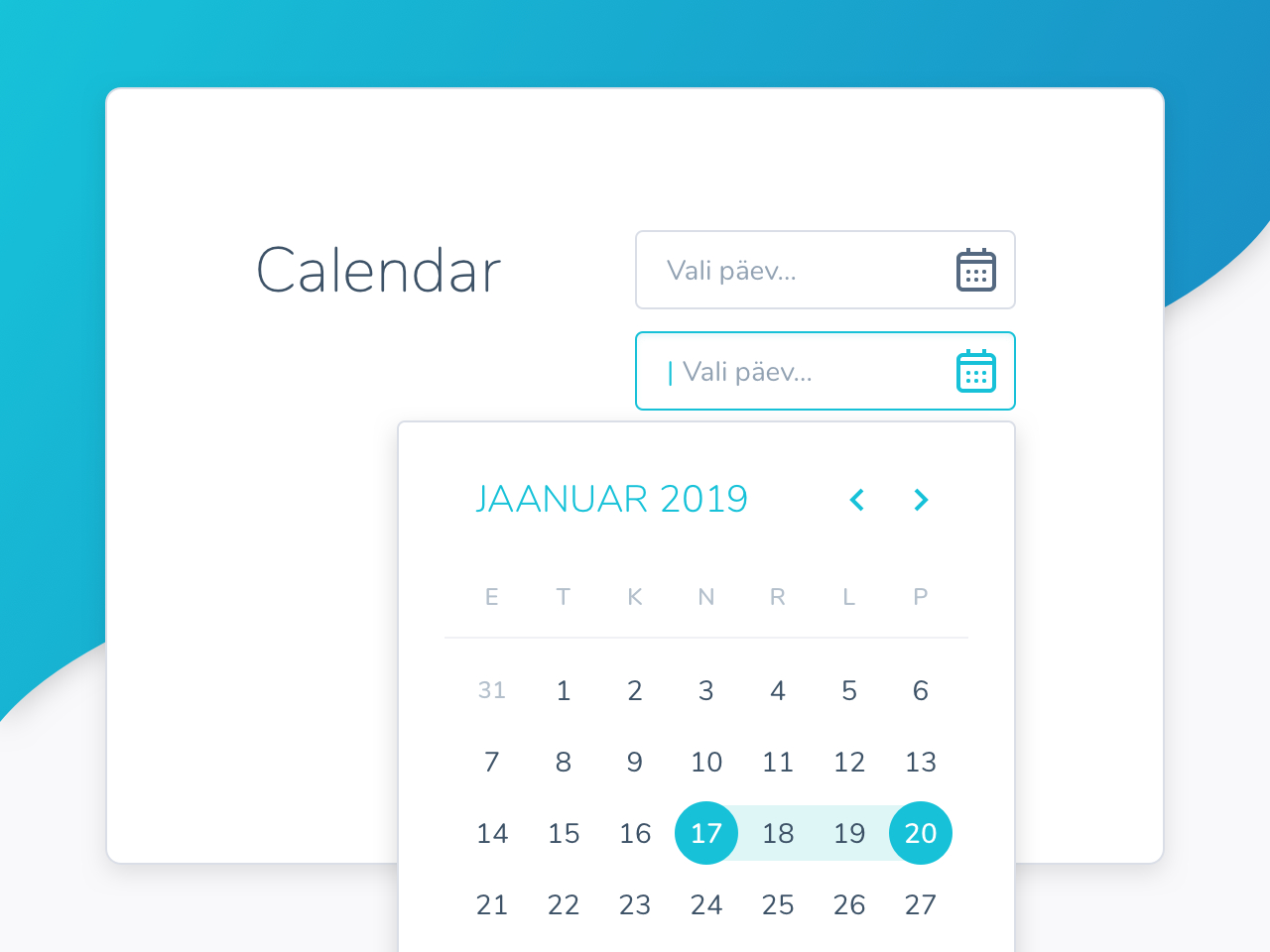 A Sample Of A Calendar From The Style Guide By Janika Mandel pertaining to Primefaces Calendar Example
