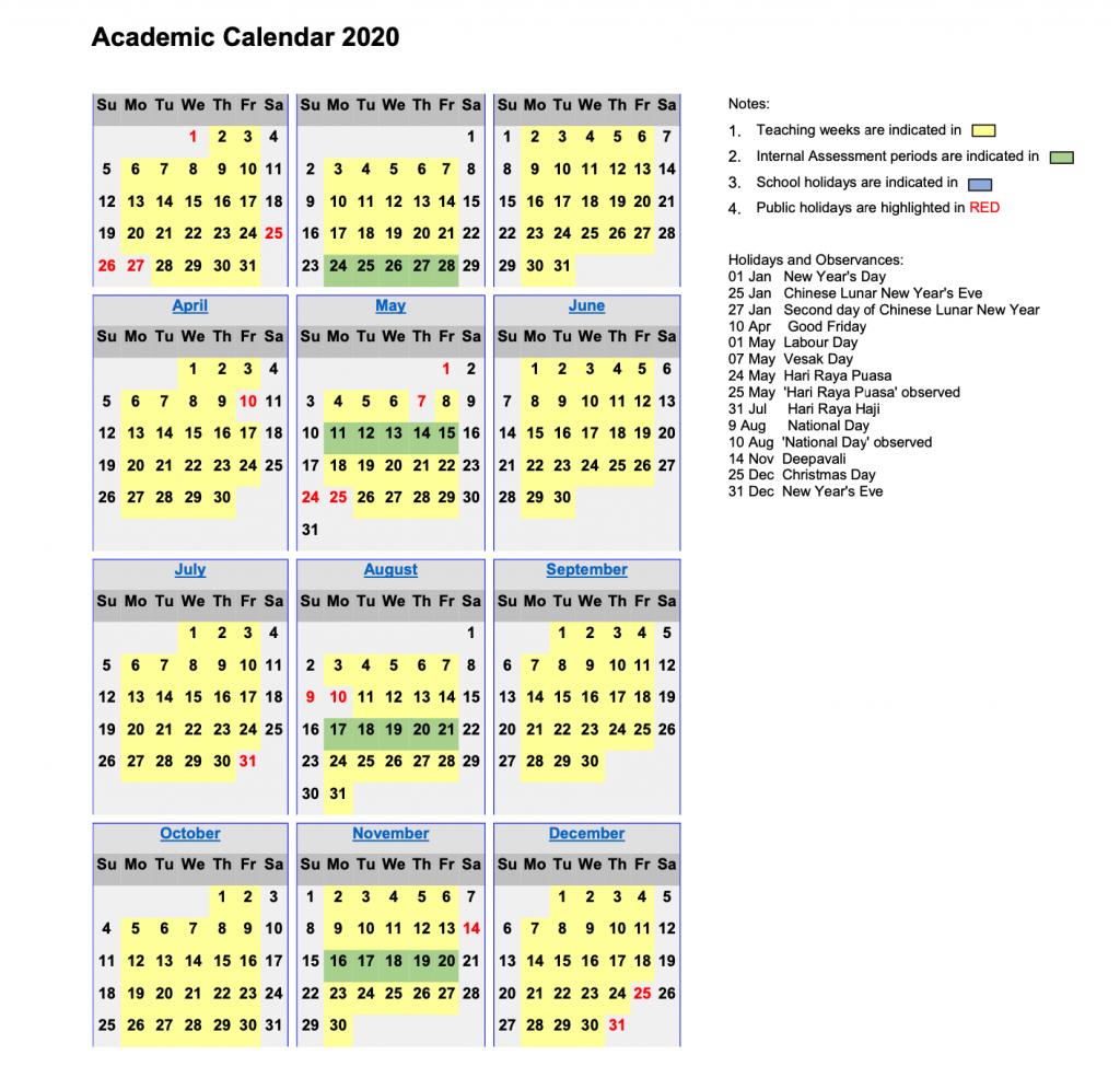 Academic Calendar 2020 – Touchstone throughout 2020 And 2020 Pei School Calendar