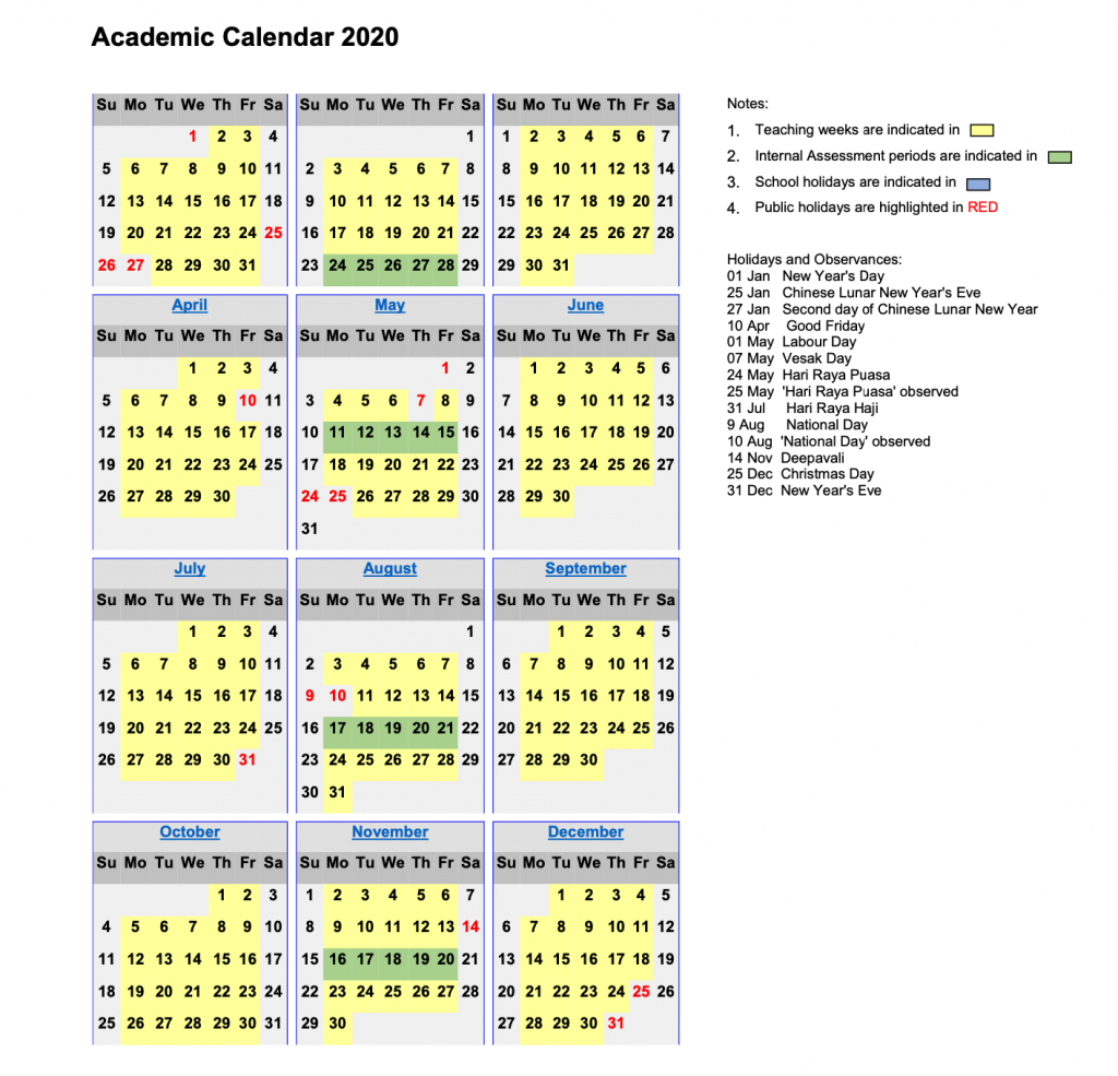 Academic Calendar 2020 – Touchstone with regard to Pei School Calendar 2020