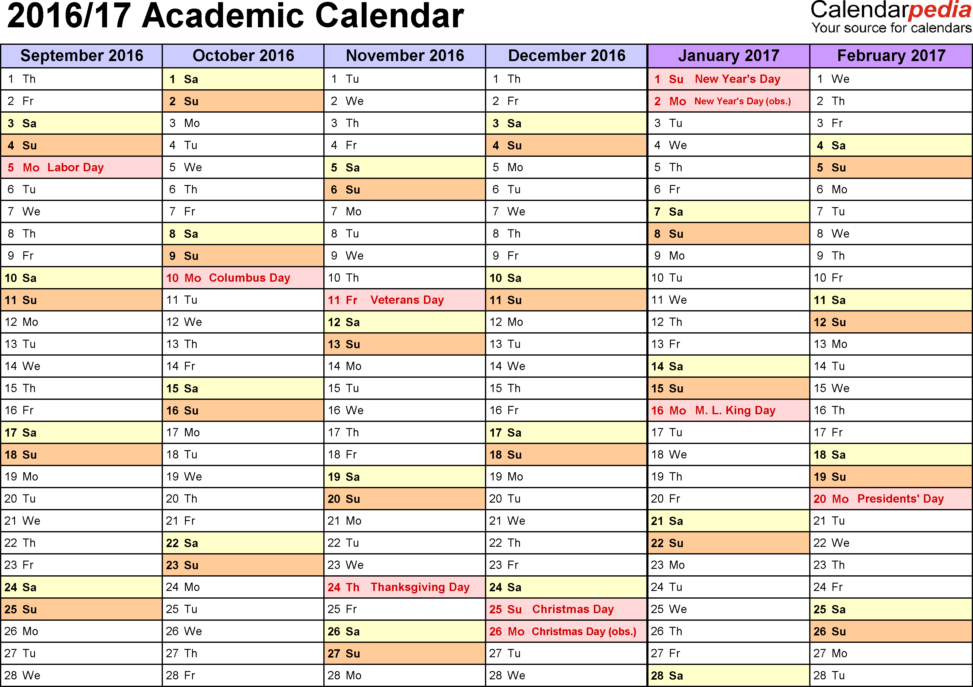 Academic Calendar Blank  Bolan.horizonconsulting.co for Uga Academic Calender