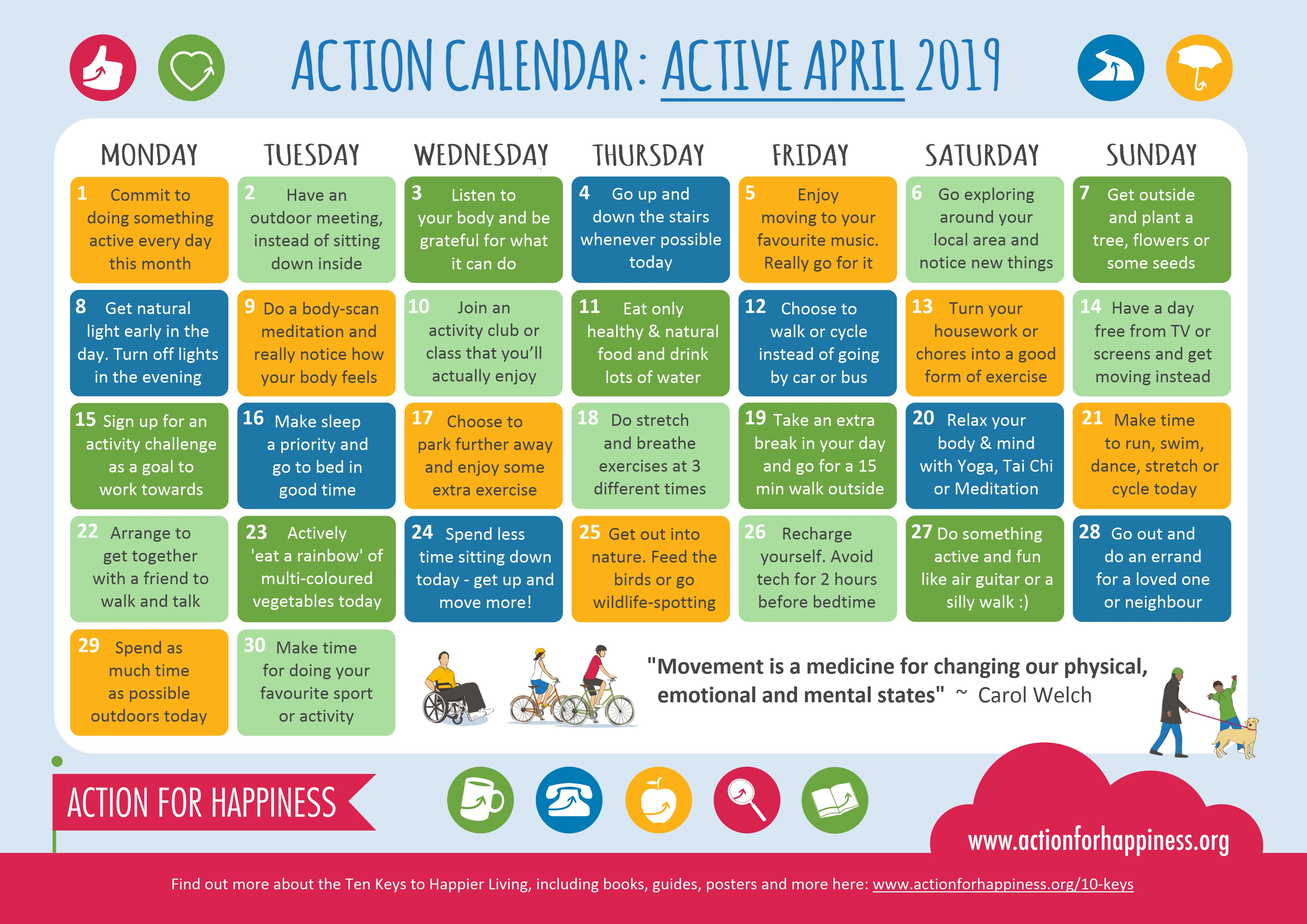 Active April Calendar with regard to Time And Action Calendar