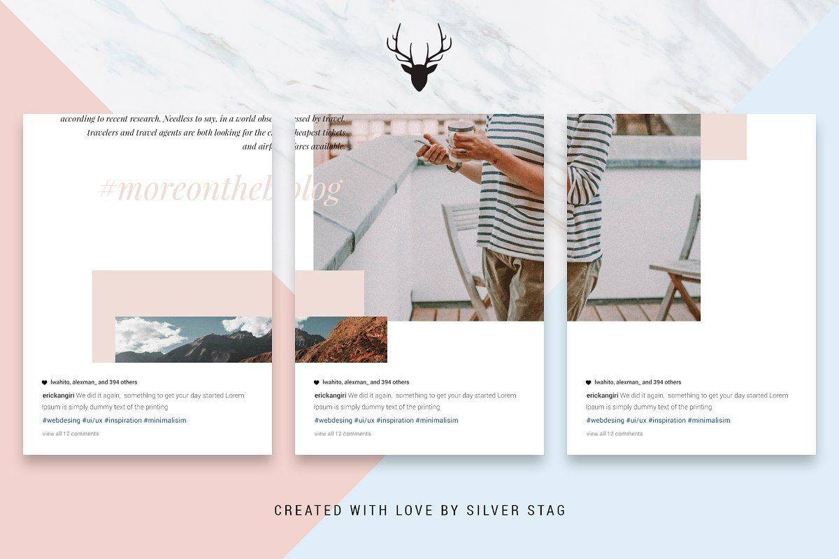Ad: #instagrid 1.0 Canva Puzzle Template By Silverstag On inside Canva Ticket Template