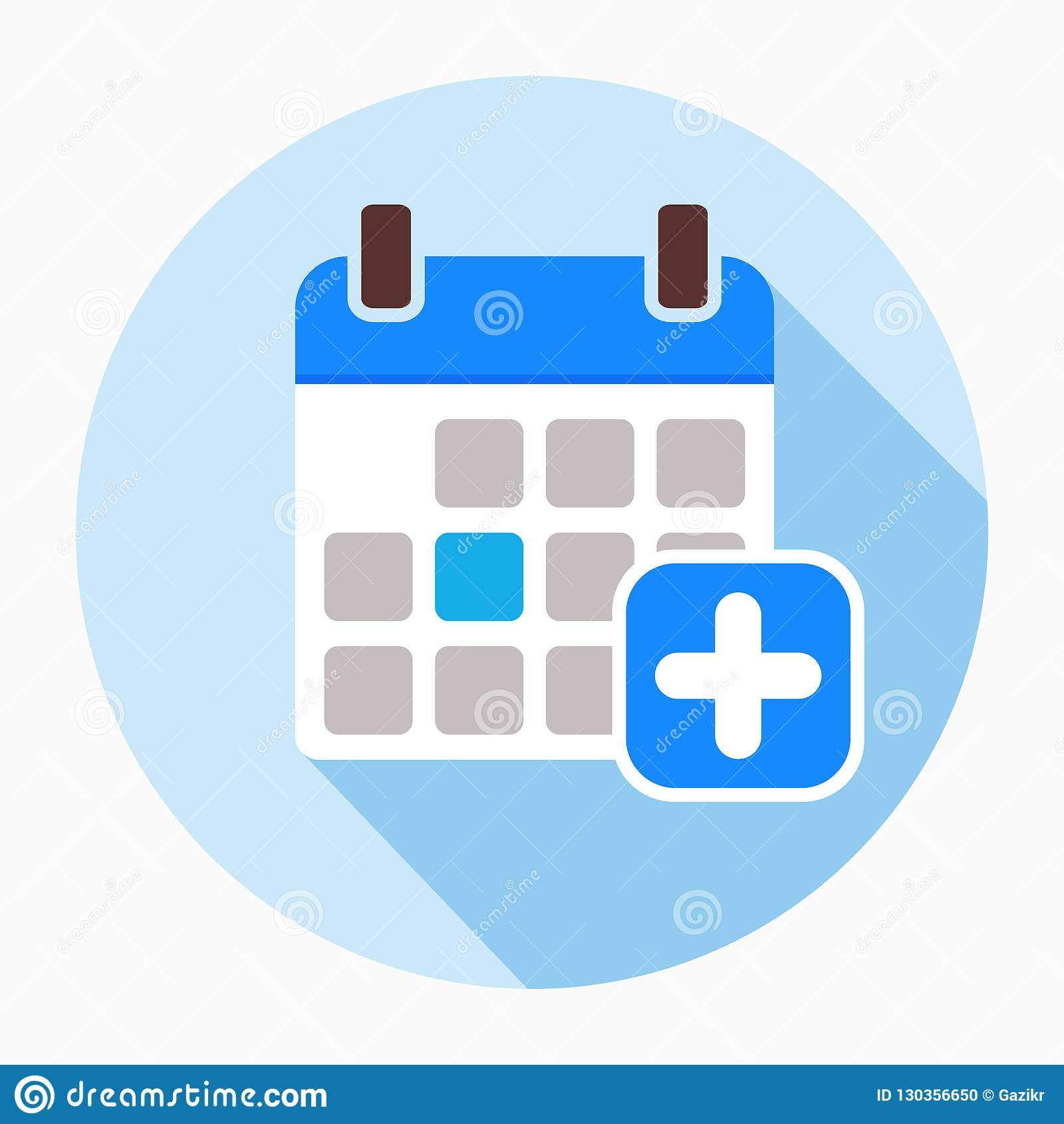 Add Calendar Icon Vector, Filled Flat Sign. Stock Vector for Google Calendar Add Image
