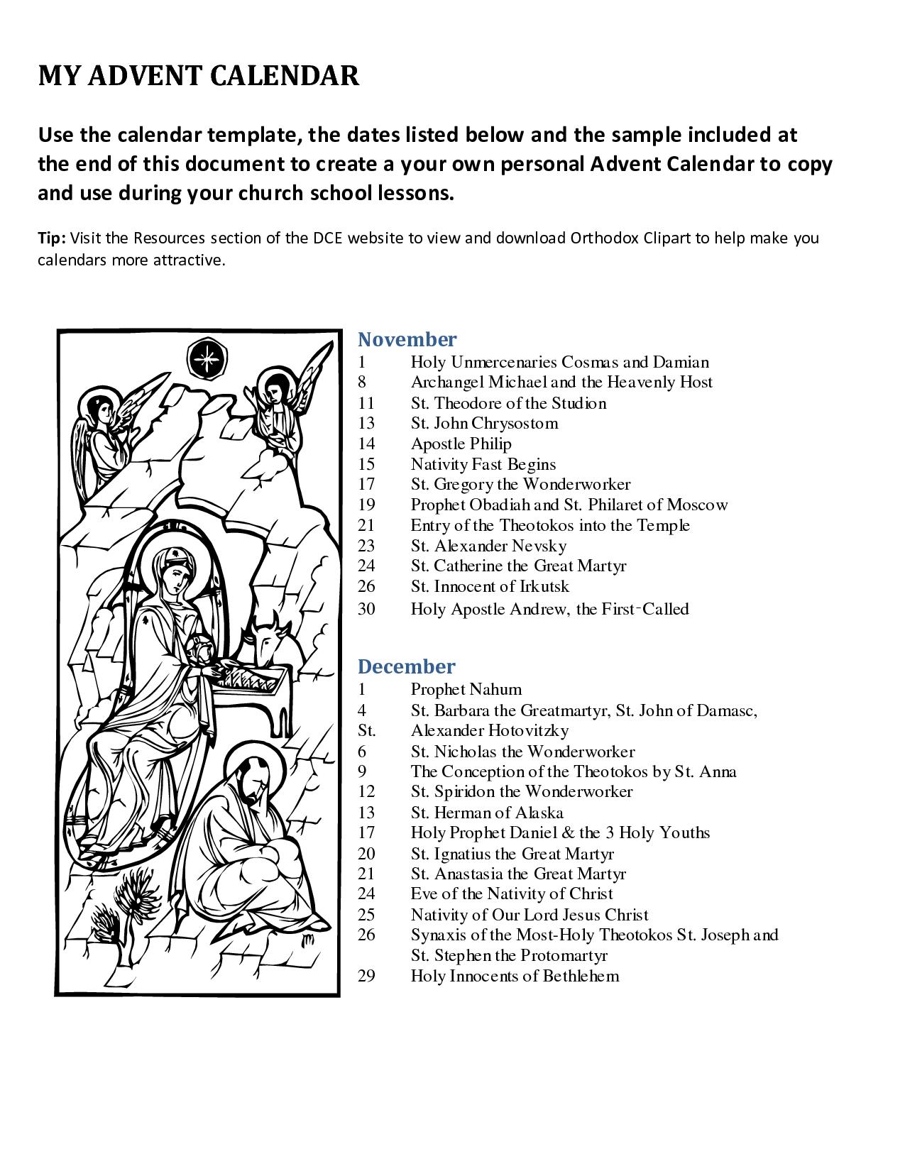 Advent+Printable+Calendar+Templates | Calendar Activities with regard to Catholic Advent Calendar Printable