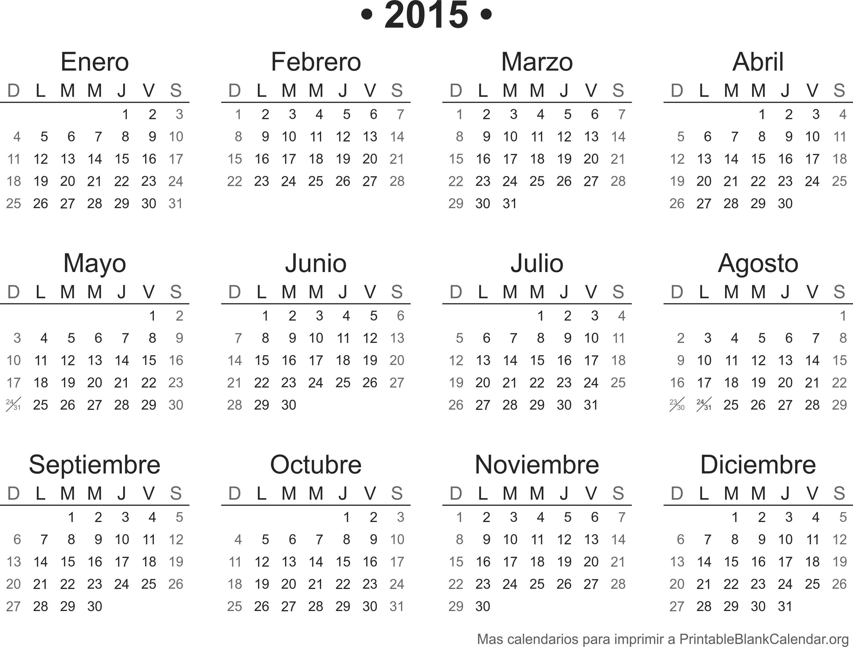 Agenda 2016 Para Imprimir  Calendarios Para Imprimir for Calendario 2015 Para Imprimir