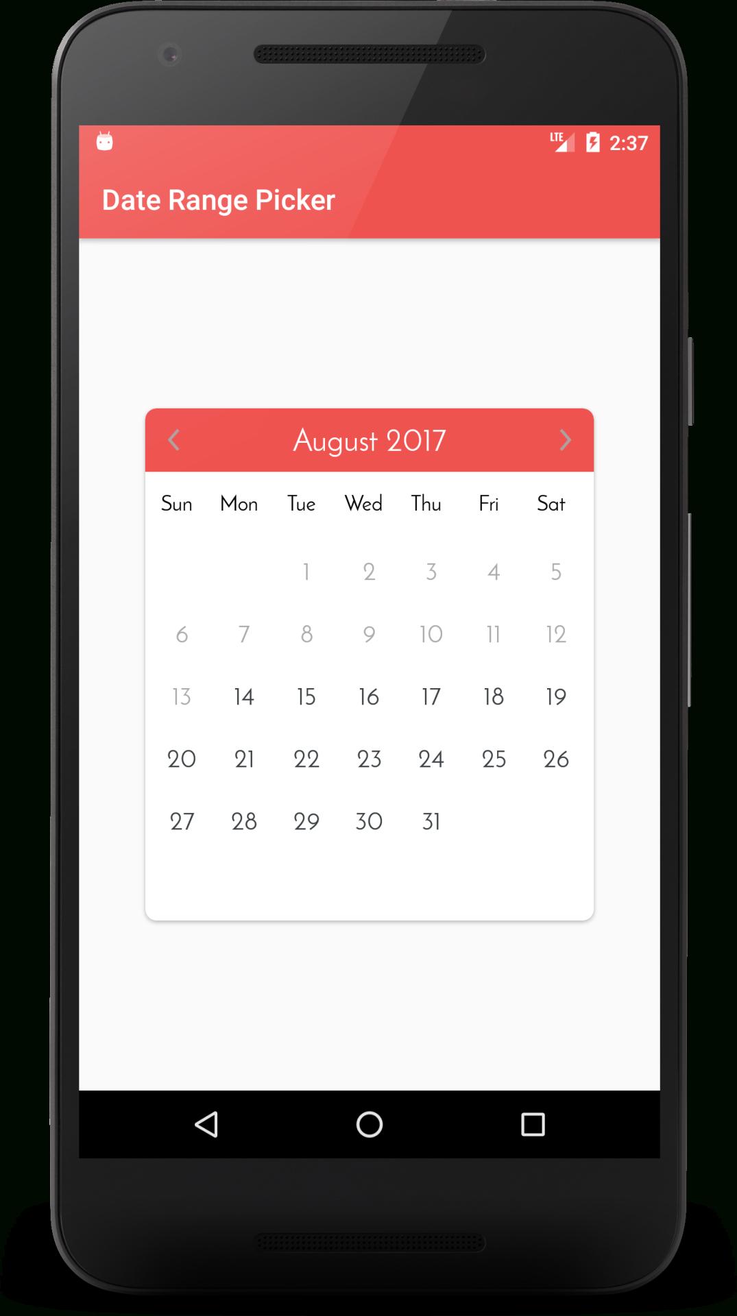 Android Arsenal — Calendar Date Range Picker with Android Arsenal Calendar
