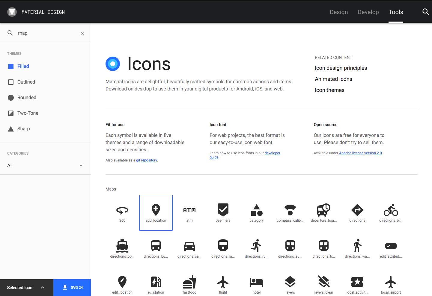 Angularjs Material  Directives > Mdicon for Calendar Icon Unicode