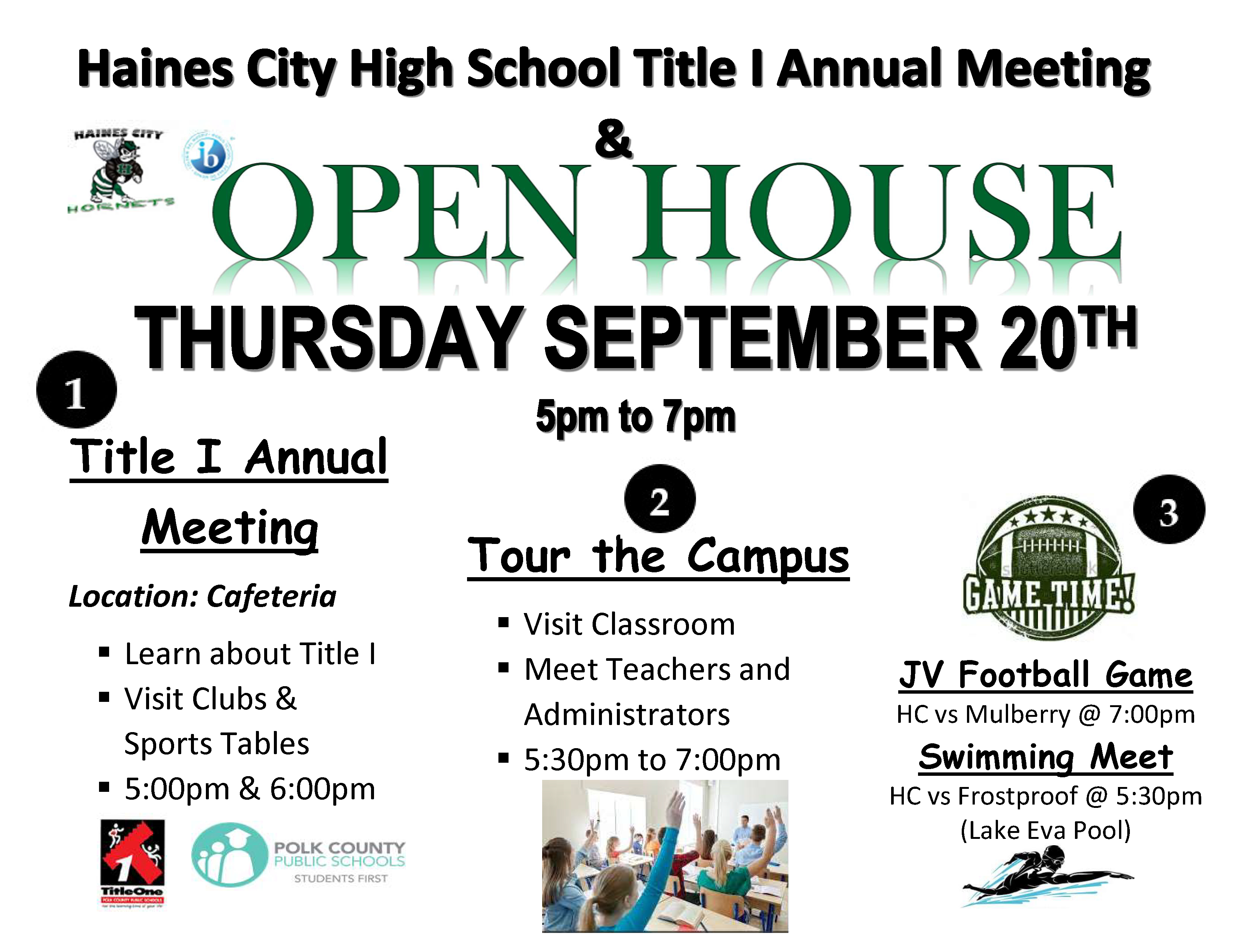 Annual Title I Meeting & Open House – Haines City High School regarding Haines City High School Bell Schedule