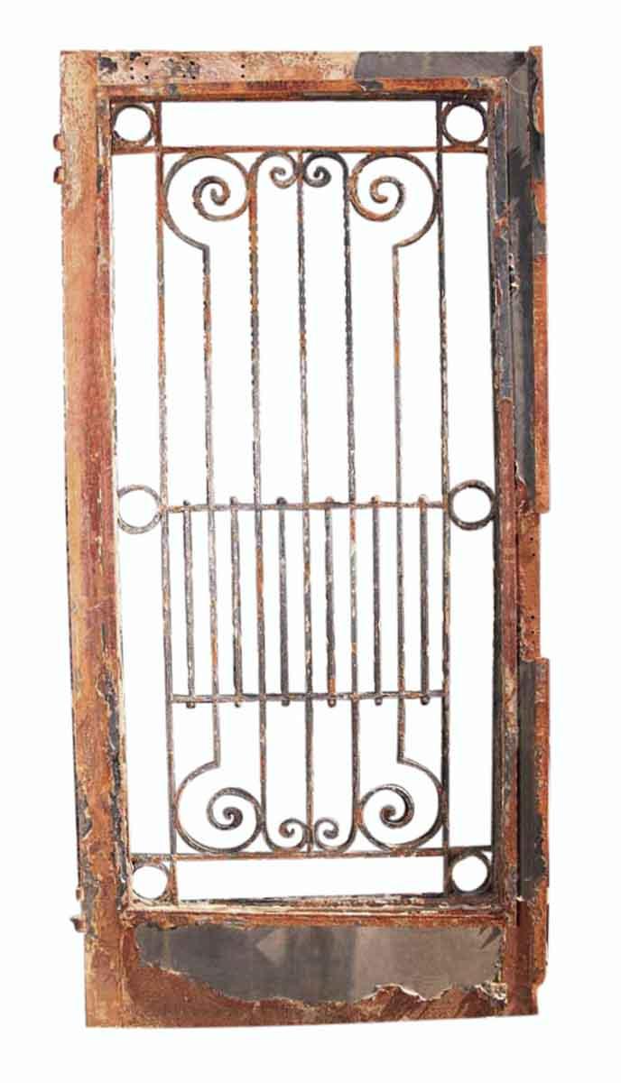 Antique Wrought Iron Entry Door 82 X 39.5 in Wrought Iron Calendar Holder