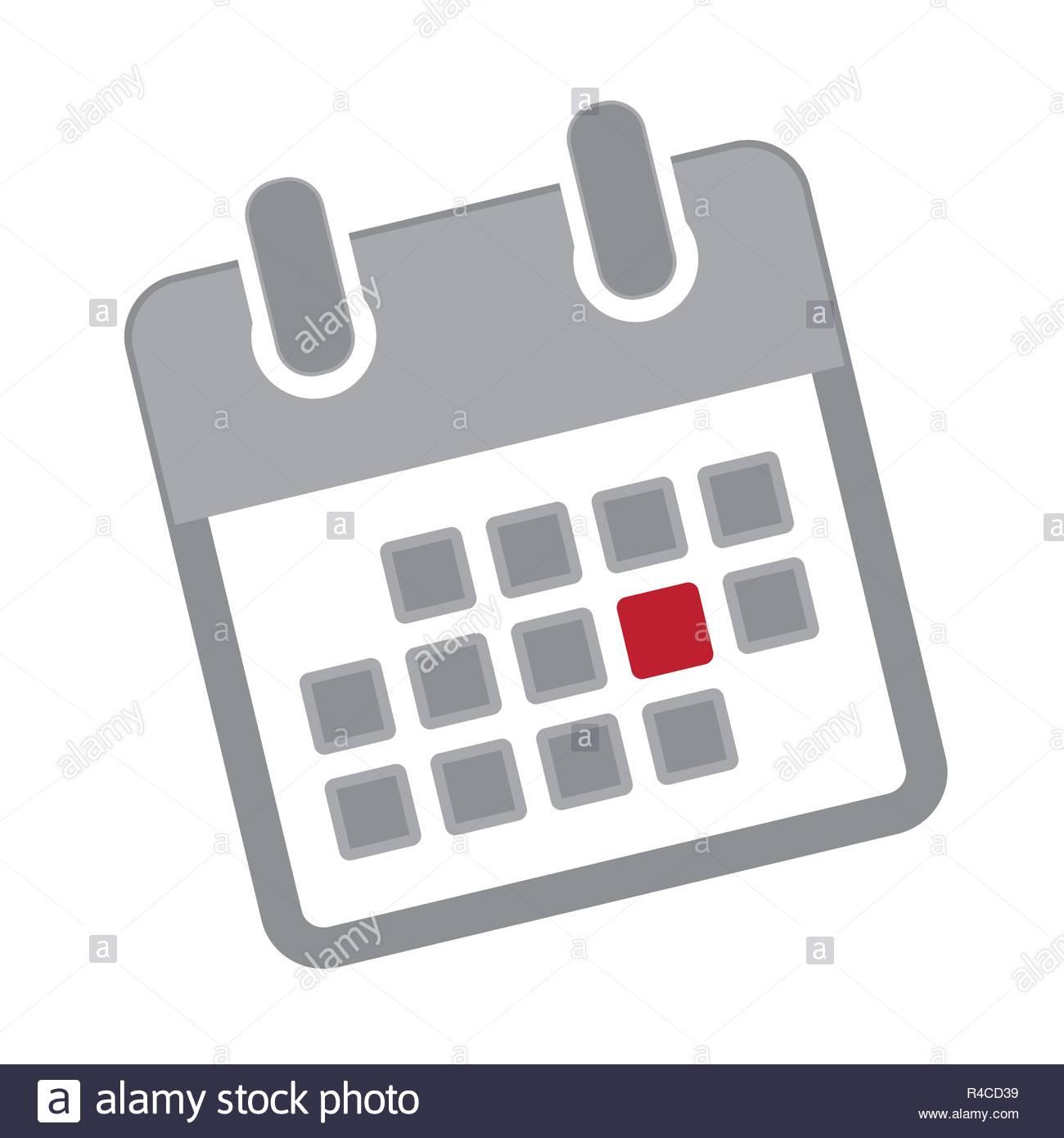 Appointment In A Grey Calendar Icon Pictogram Vector for Calendar Icon Grey
