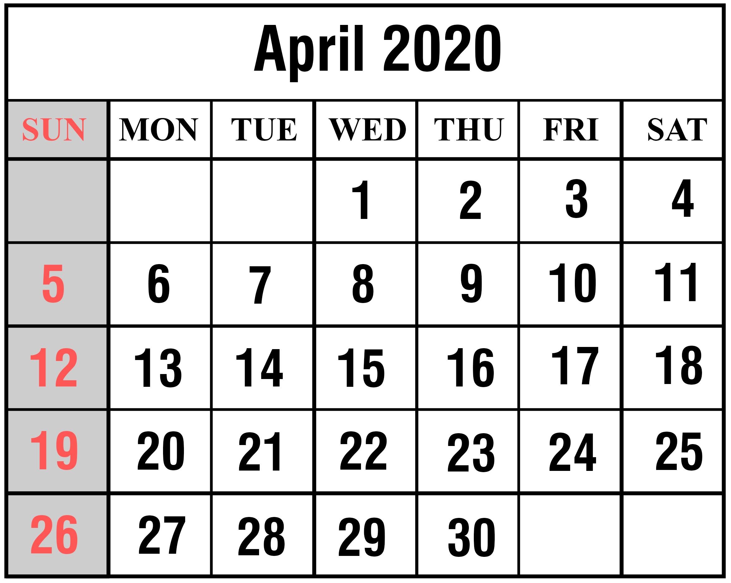 April 2020 May 2020 Calendar | Example Calendar Printable inside April 2020 Printable Calendar