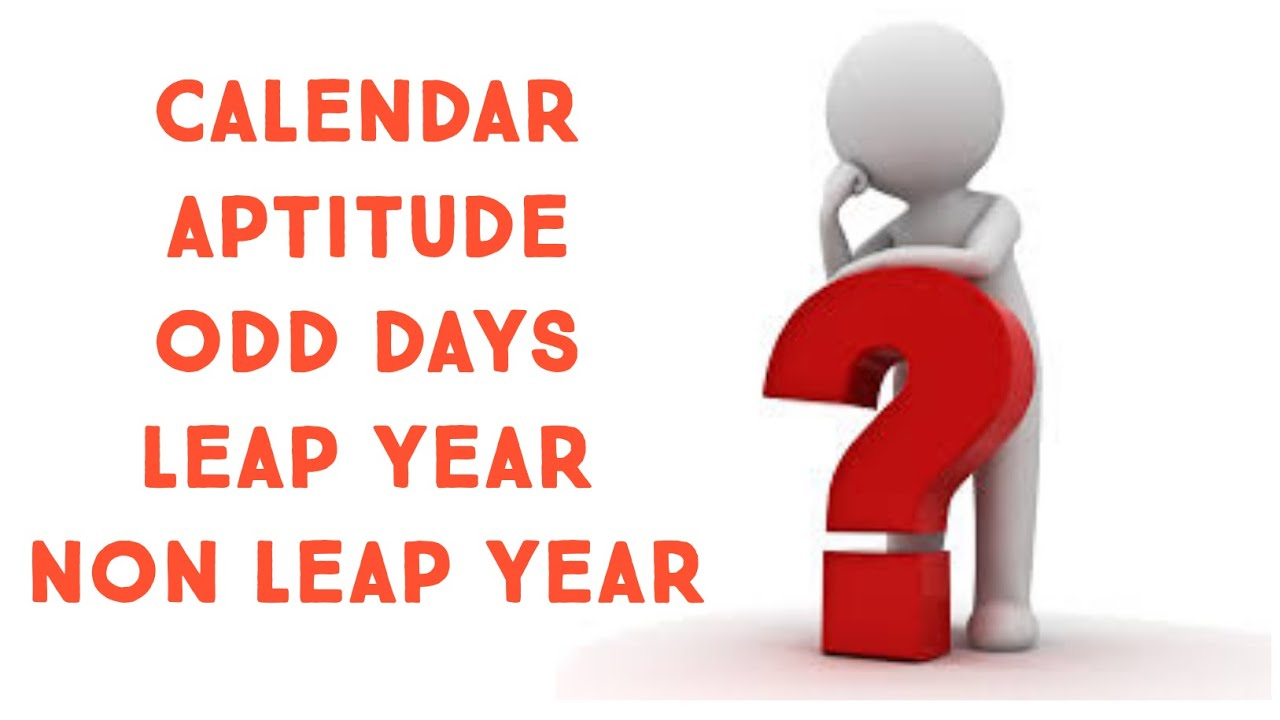 Aptitude: Calendar | Odd Days | Leap Year And Non Leap Year inside Non Leap Year Calendar