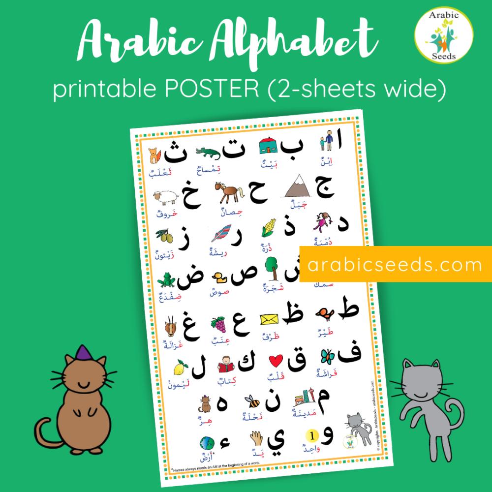 Arabic Alphabet Poster | Arabic Alphabet, Teaching The in Arabic Alphabet Poster Printable
