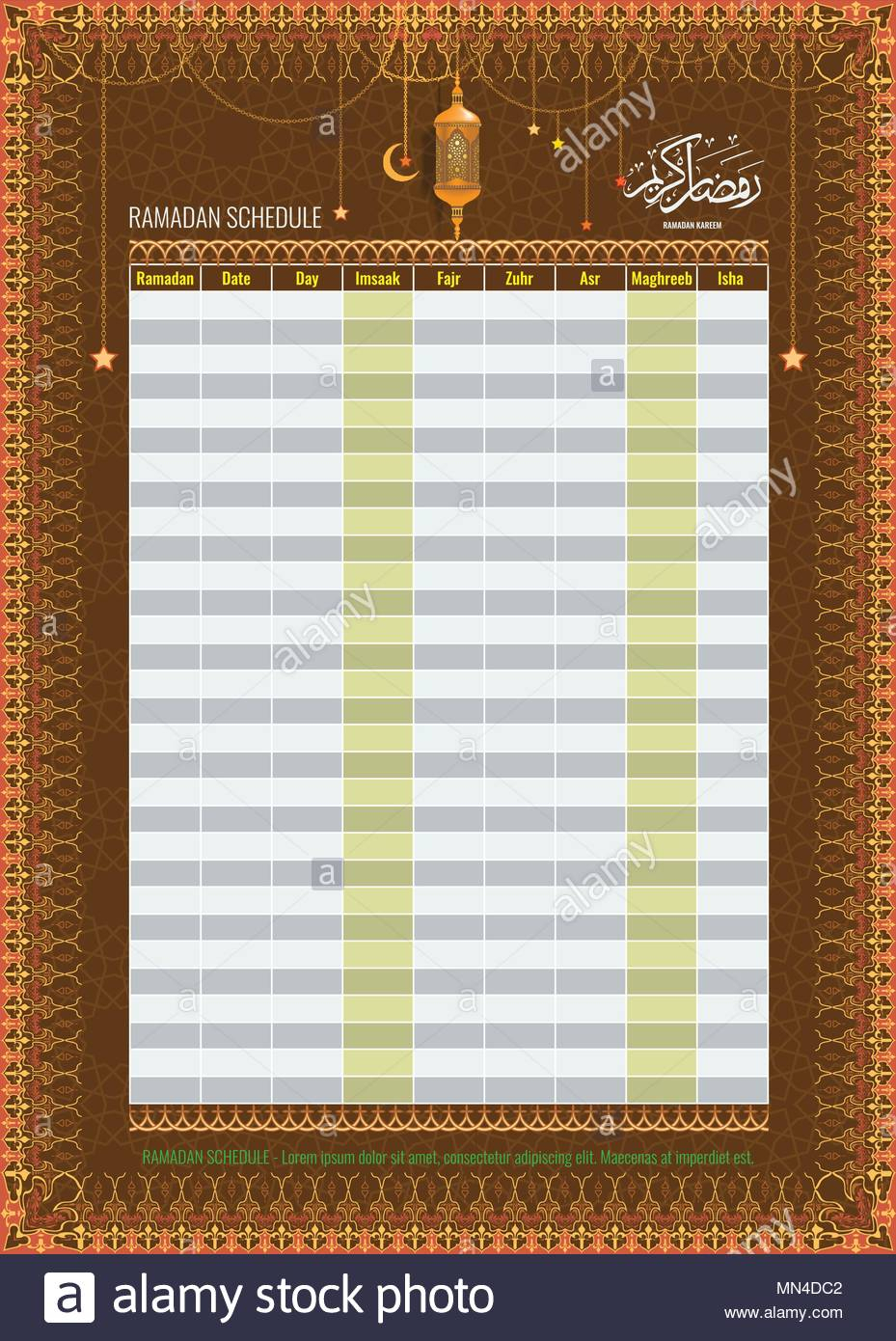 Arabic Calendar Stock Photos & Arabic Calendar Stock Images within Isha Lunar Calendar 2020