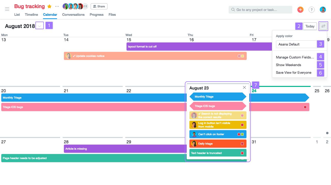 Asana Calendar View Options | Product Guide · Asana regarding Asana Export Calendar