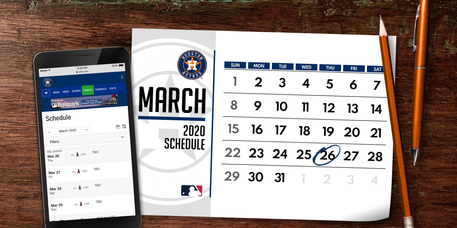 Astros 2020 Schedule Released | Houston Astros throughout Atlanta Braves Schedule 2020 Printable