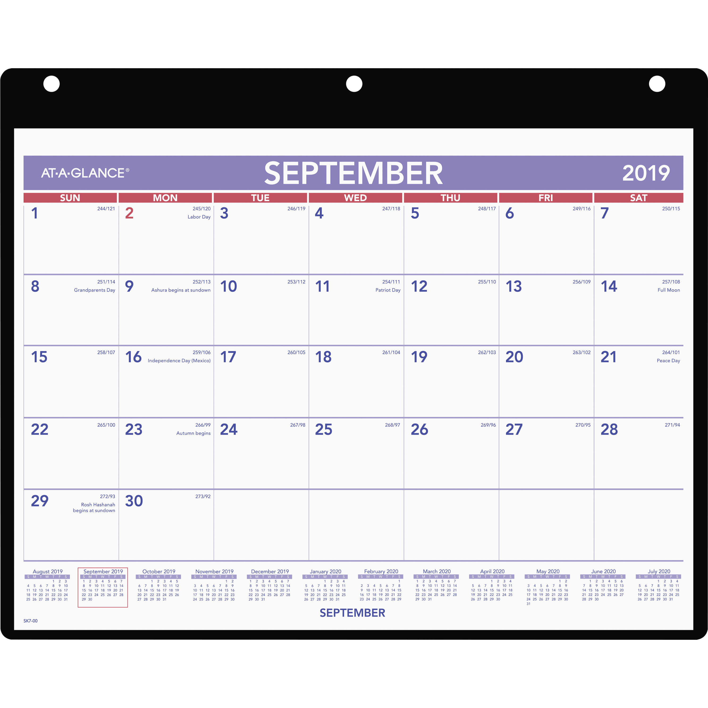 Ataglance Academic Monthly Deskwall Calendar With Poly Holder regarding 3 Month Calendar Holder