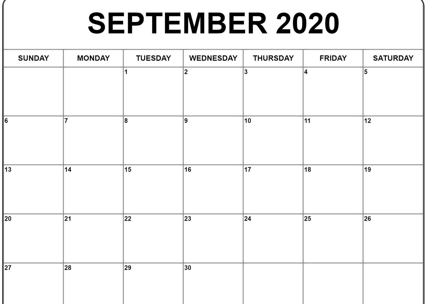 Awesome September 2020 Calendar Pdf, Word, Excel Template in Calendar Excel Template 2020