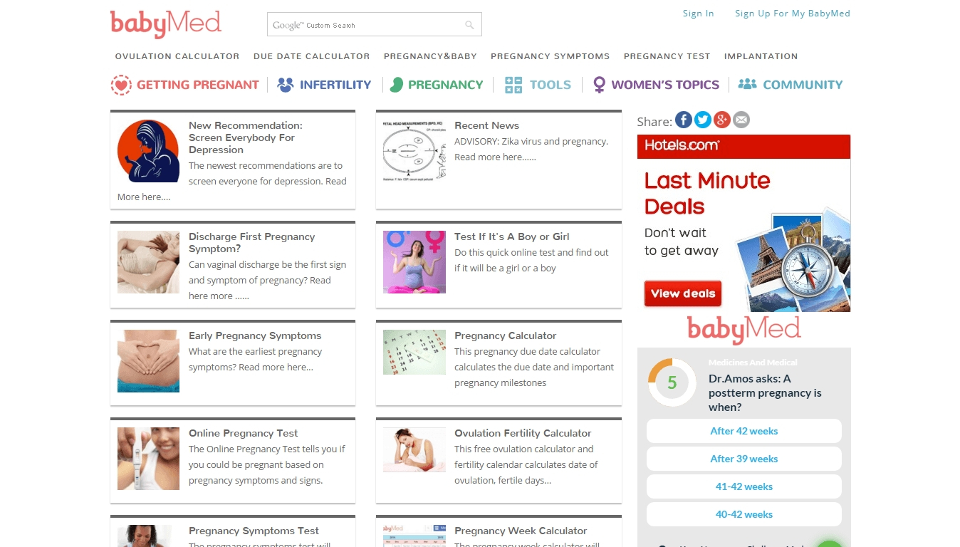 Babymed Reviews – Pregnancy Calendar And Calculator Week throughout Printable Pregnancy Calendar Week By Week